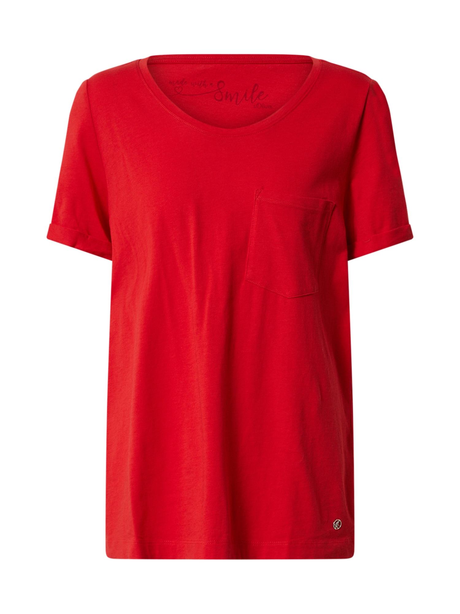 s.Oliver T-Shirt  červená