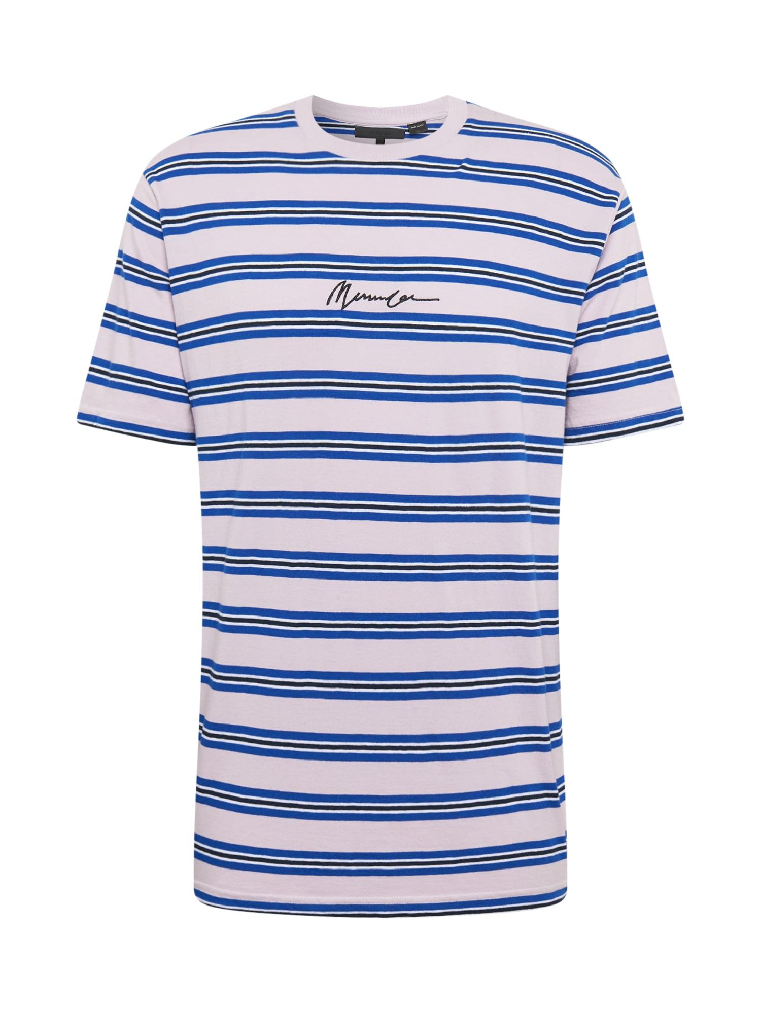 Mennace Marškinėliai mėlyna / balta / juoda