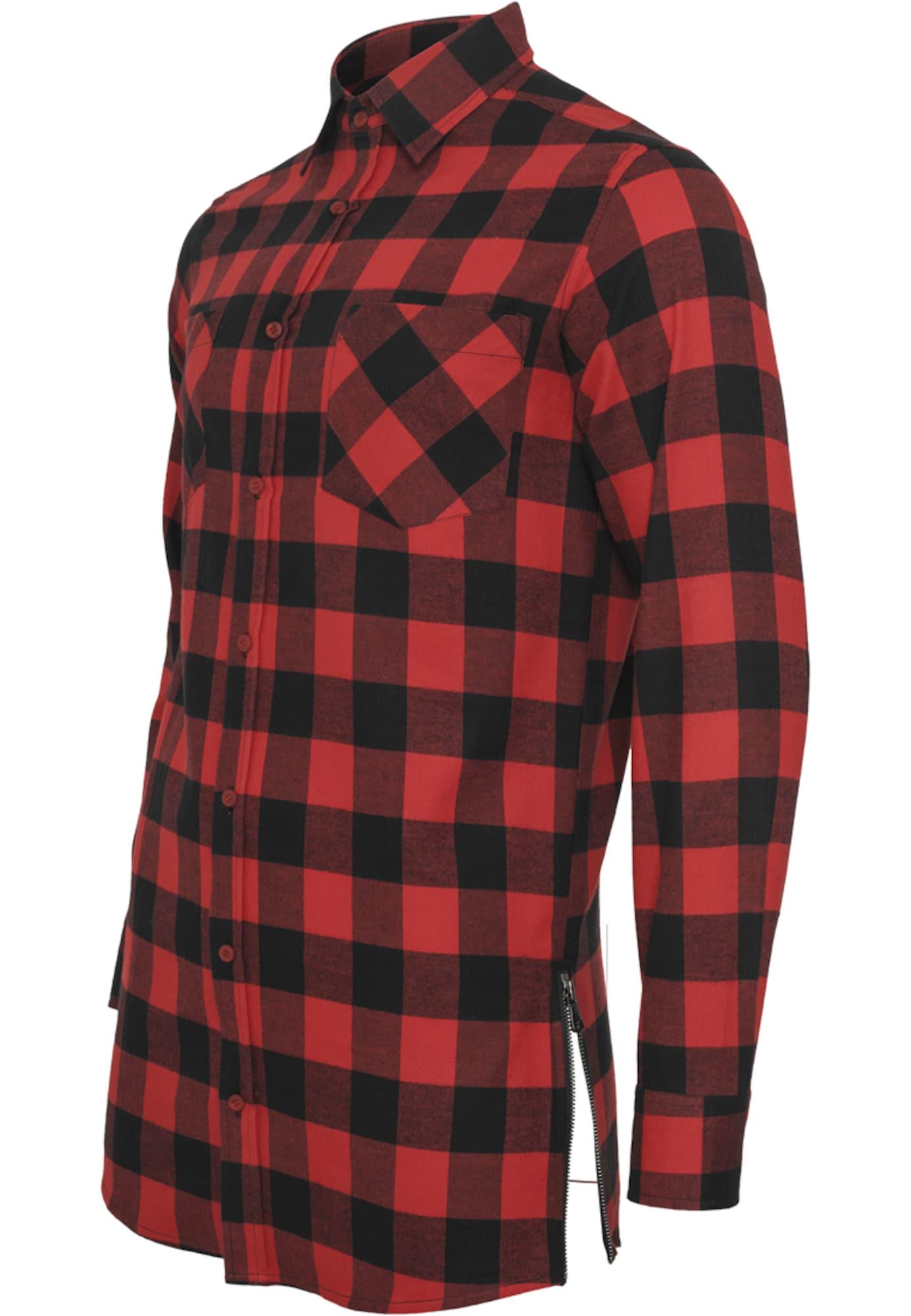 Urban Classics Marškiniai raudona / juoda
