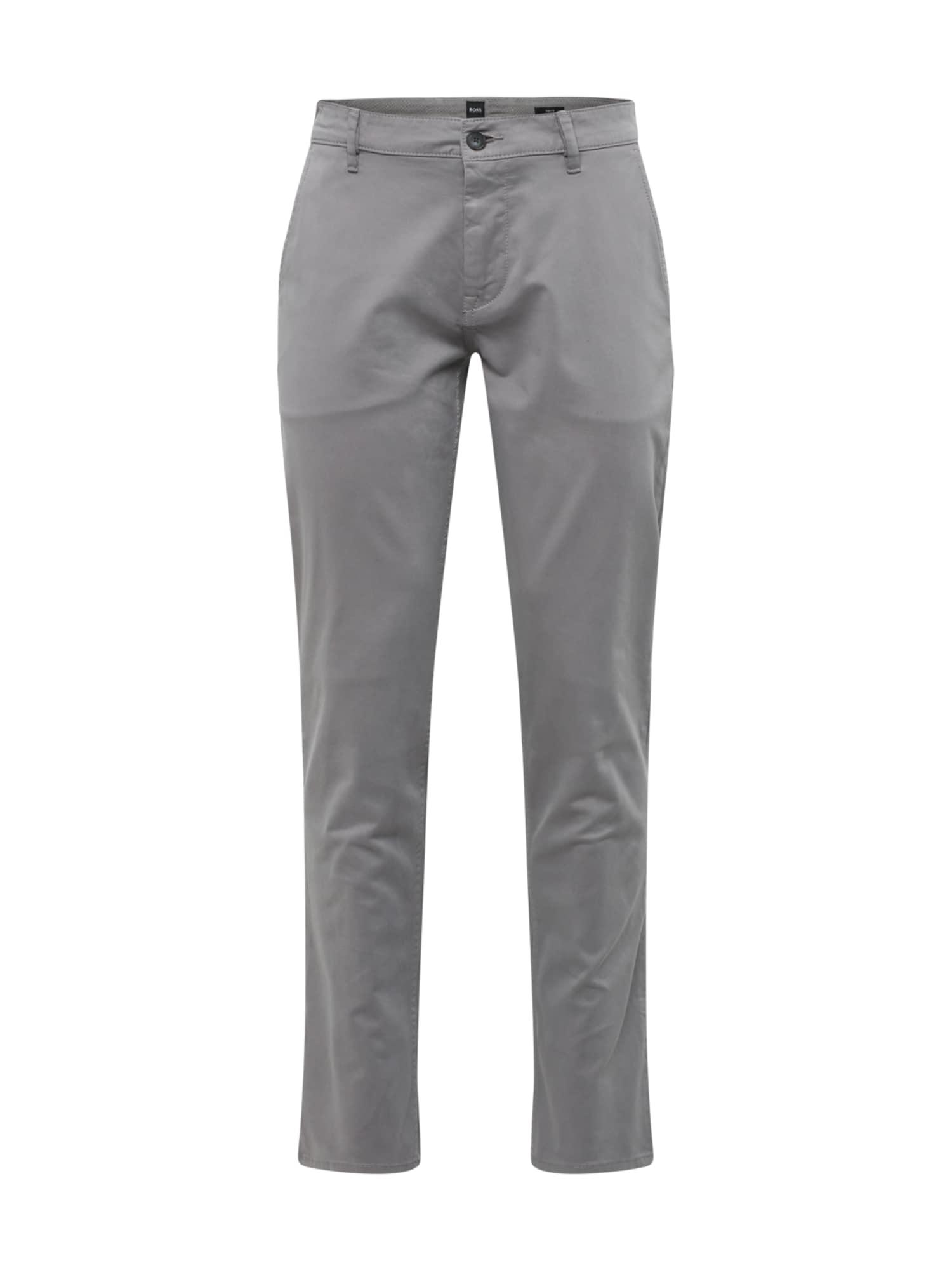 BOSS Chino stiliaus kelnės 'Schino' pilko džinso