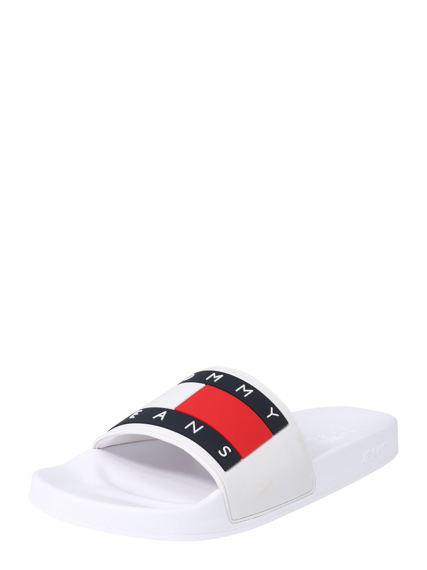 Tommy Jeans Šľapky 'AQUA 4'  modré / červené / biela