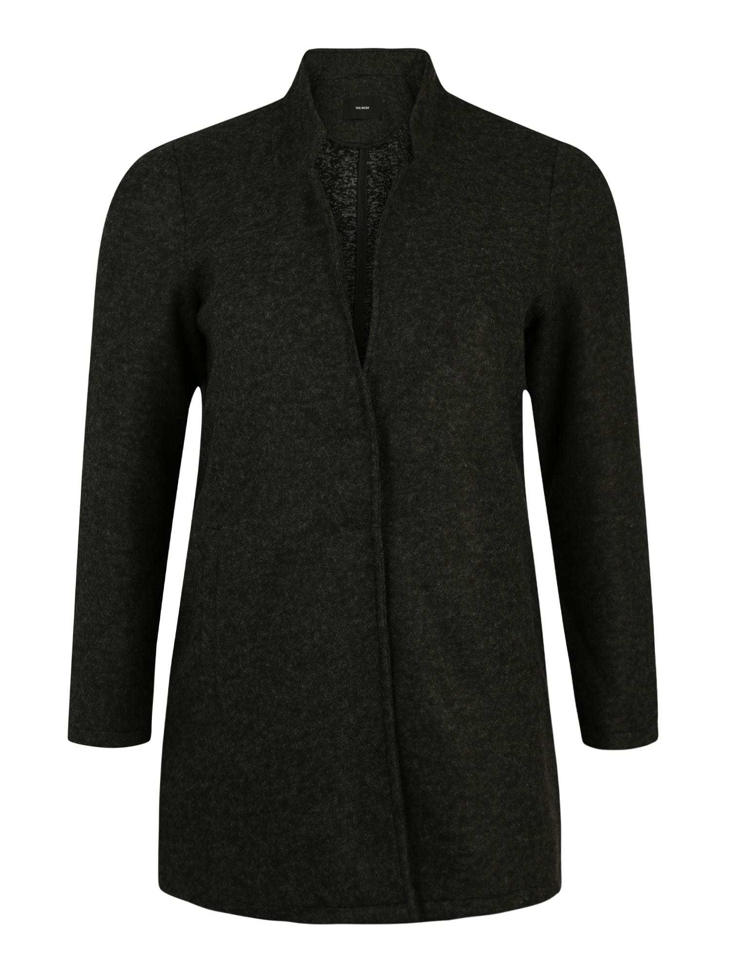 Vero Moda Curve Prechodná bunda 'VMBRUSHED'  sivá melírovaná