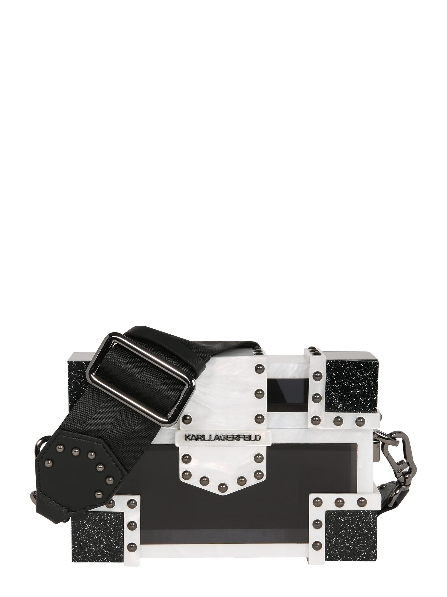 Karl Lagerfeld Taška přes rameno  perlově bílá / černá