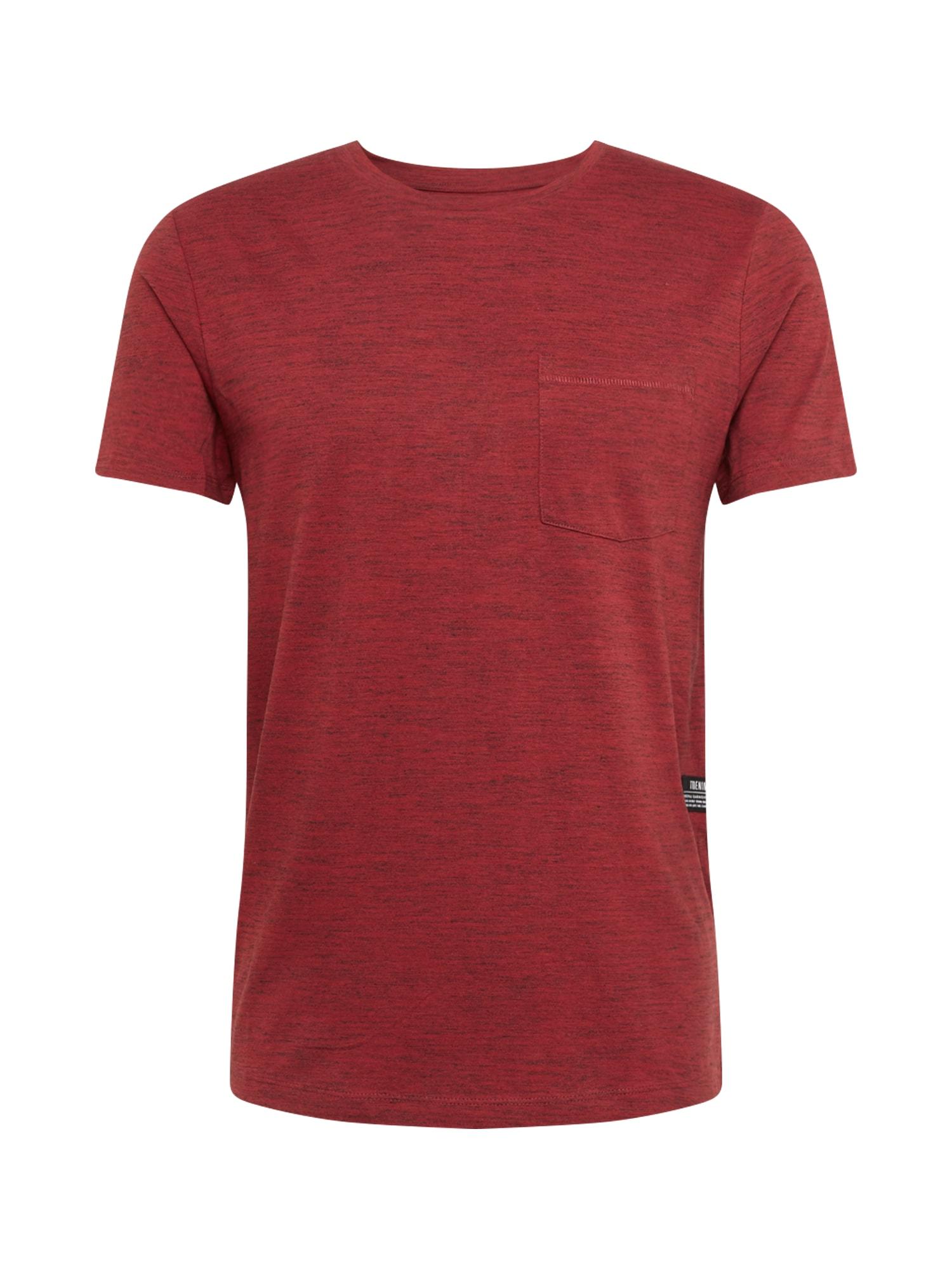 Tričko červený melír TOM TAILOR DENIM