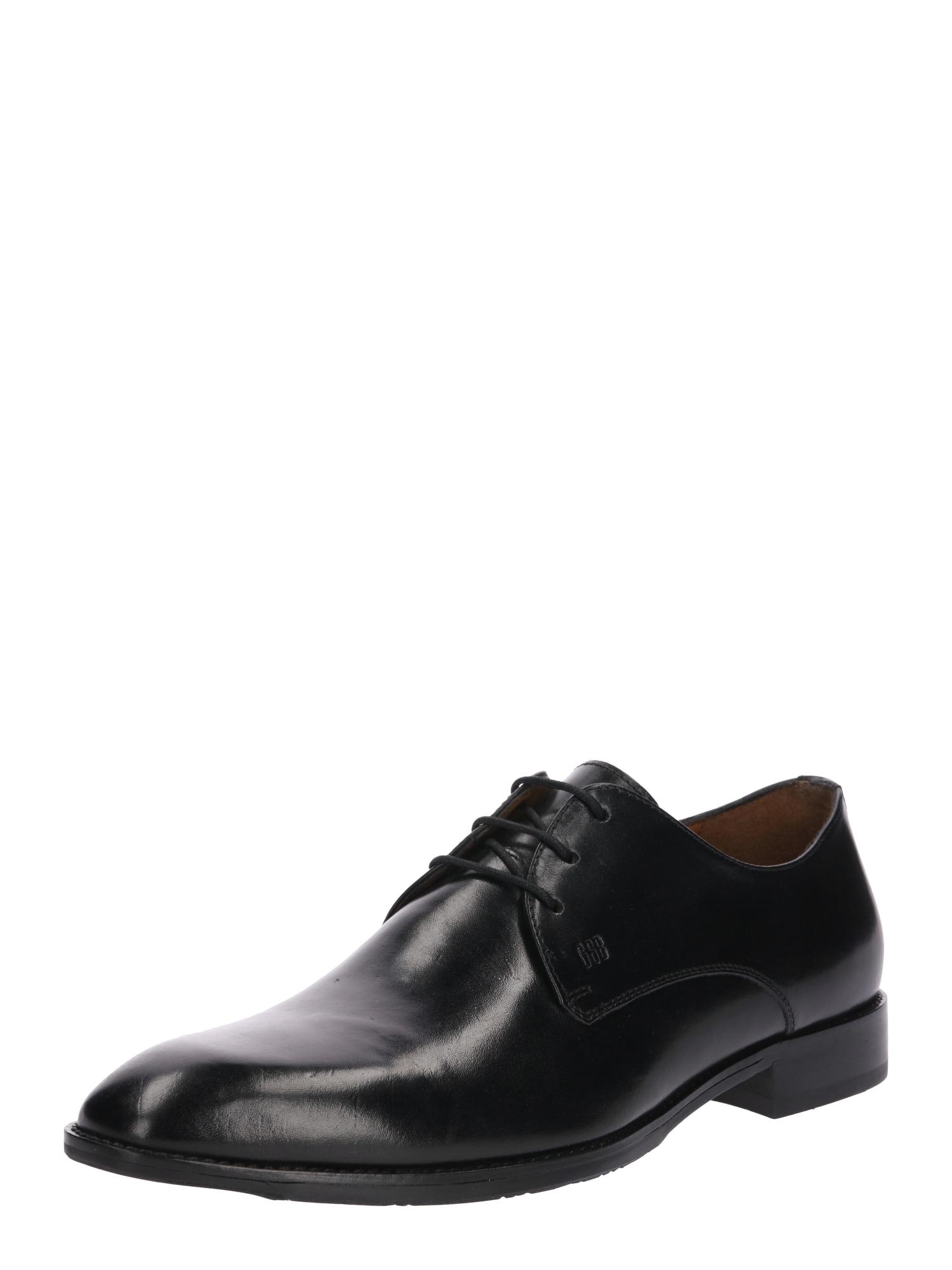 Šněrovací boty Mirco černá Gordon & Bros