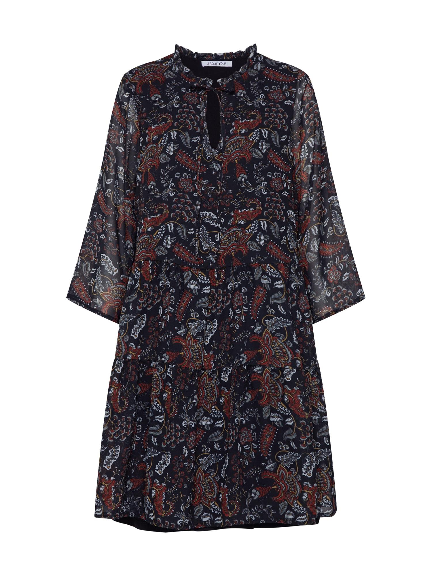 ABOUT YOU Palaidinės tipo suknelė 'Meret' mišrios spalvos / juoda