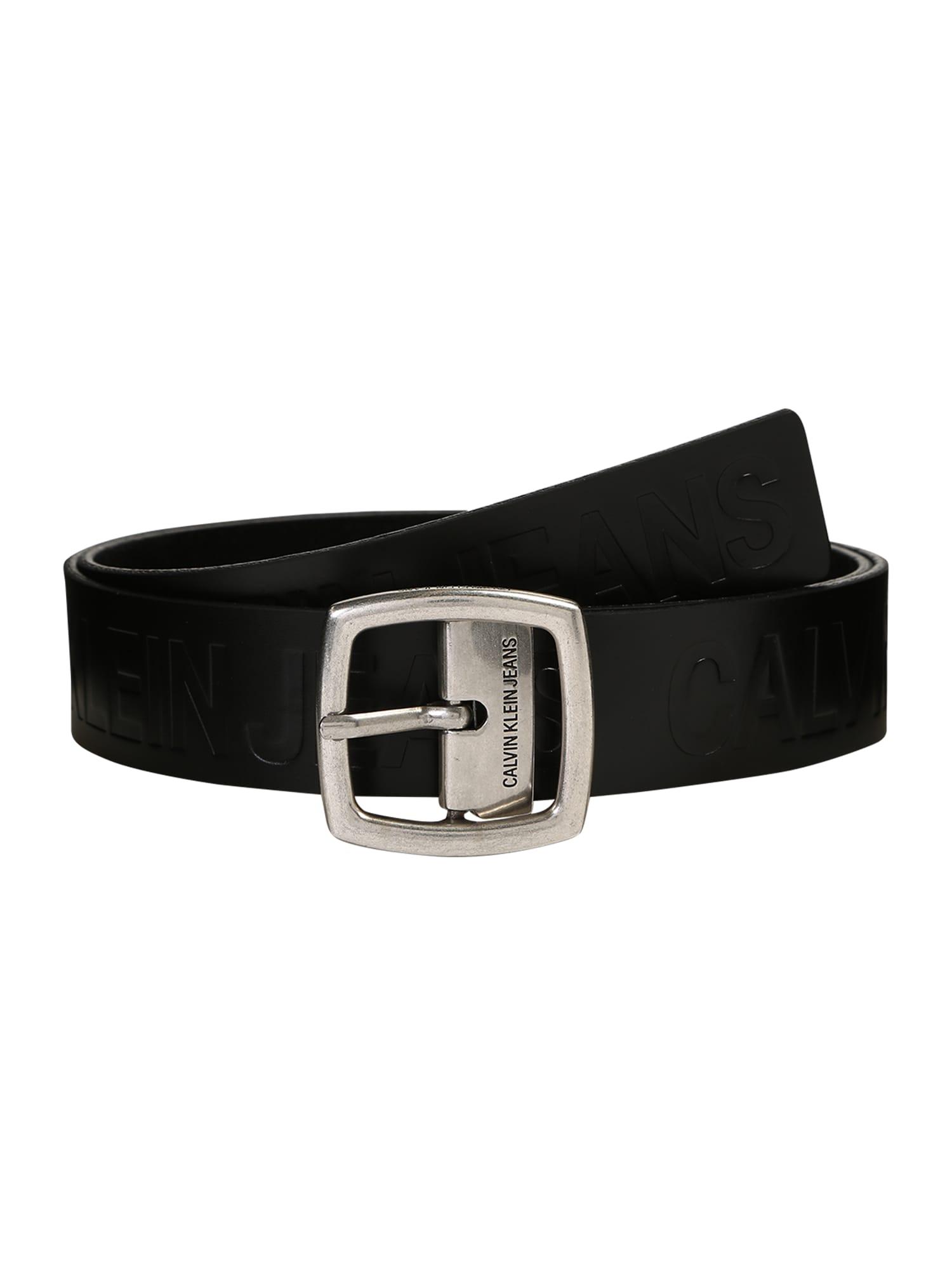 Calvin Klein Jeans Diržas 'J ADJUSTABLE LEATHER BELT 3.8CM' juoda