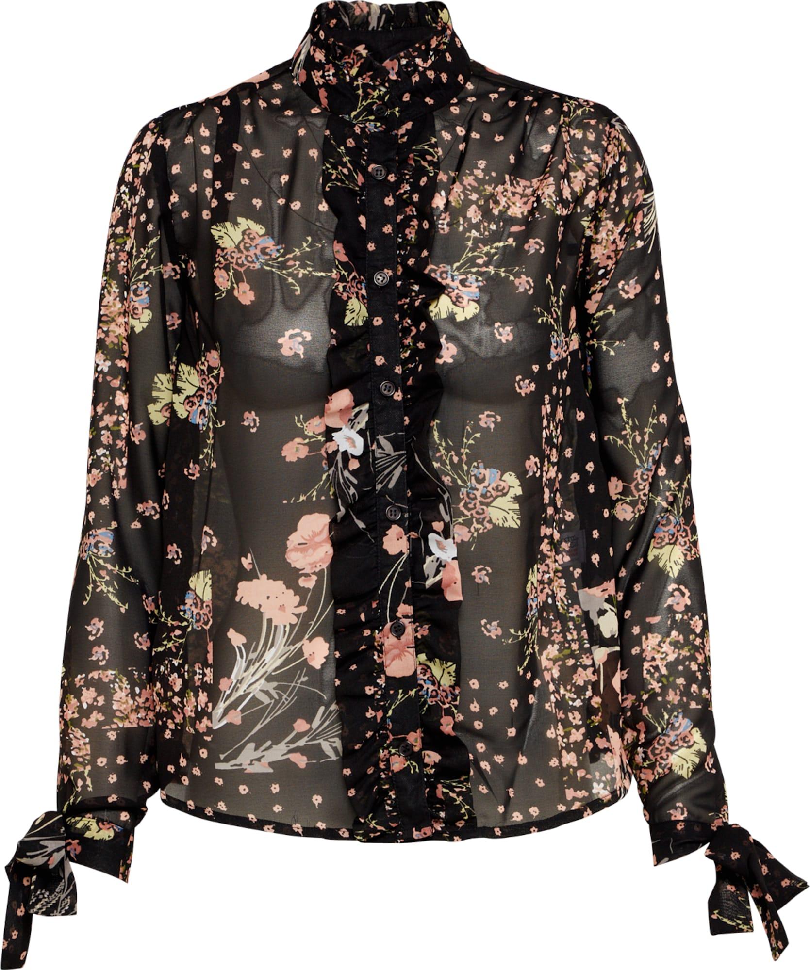 boohoo bluse mit blumen print in schwarz about you. Black Bedroom Furniture Sets. Home Design Ideas