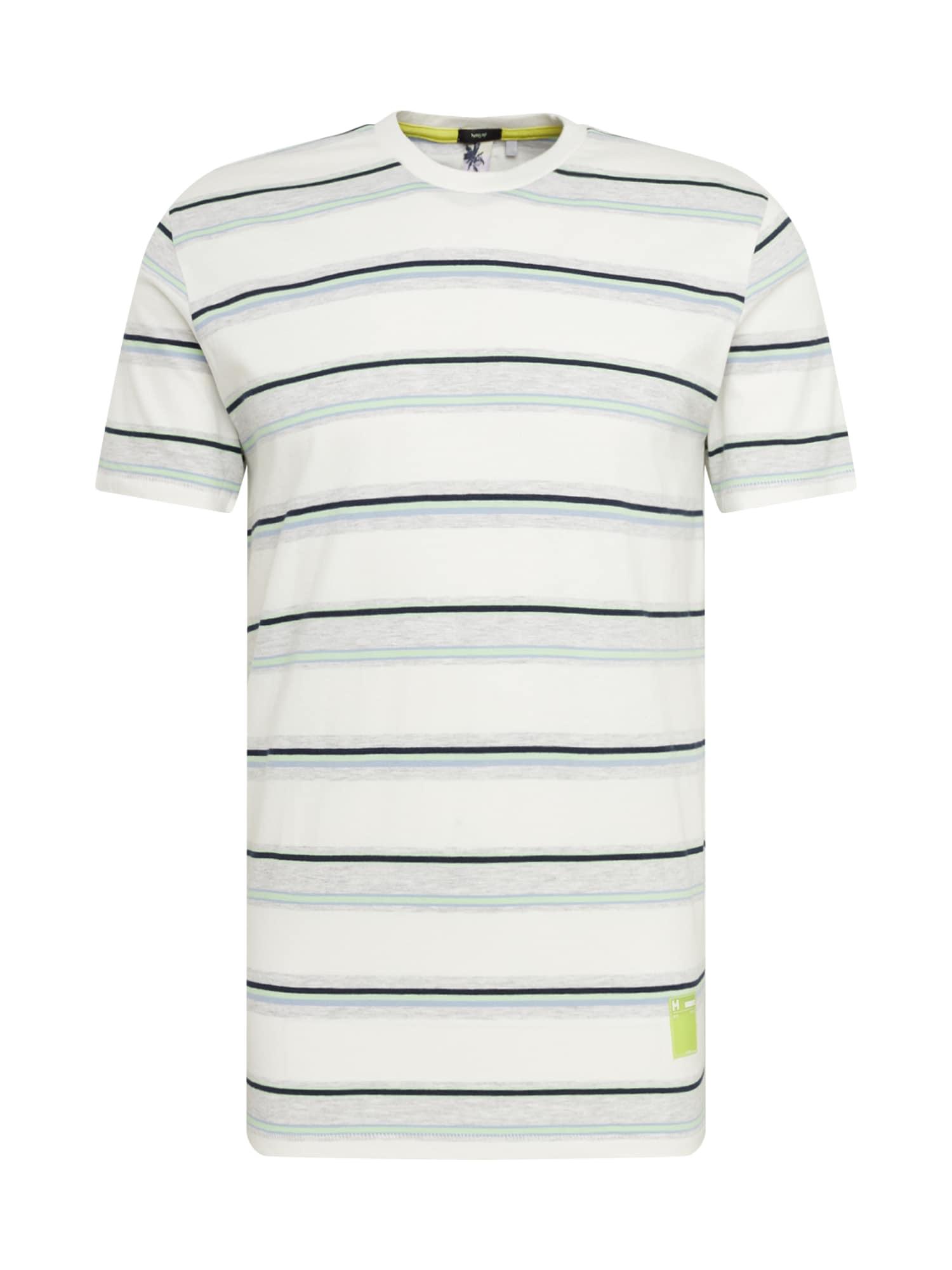 Hailys Men Marškinėliai 'T-Shirt Marvin' mėlyna / balkšva