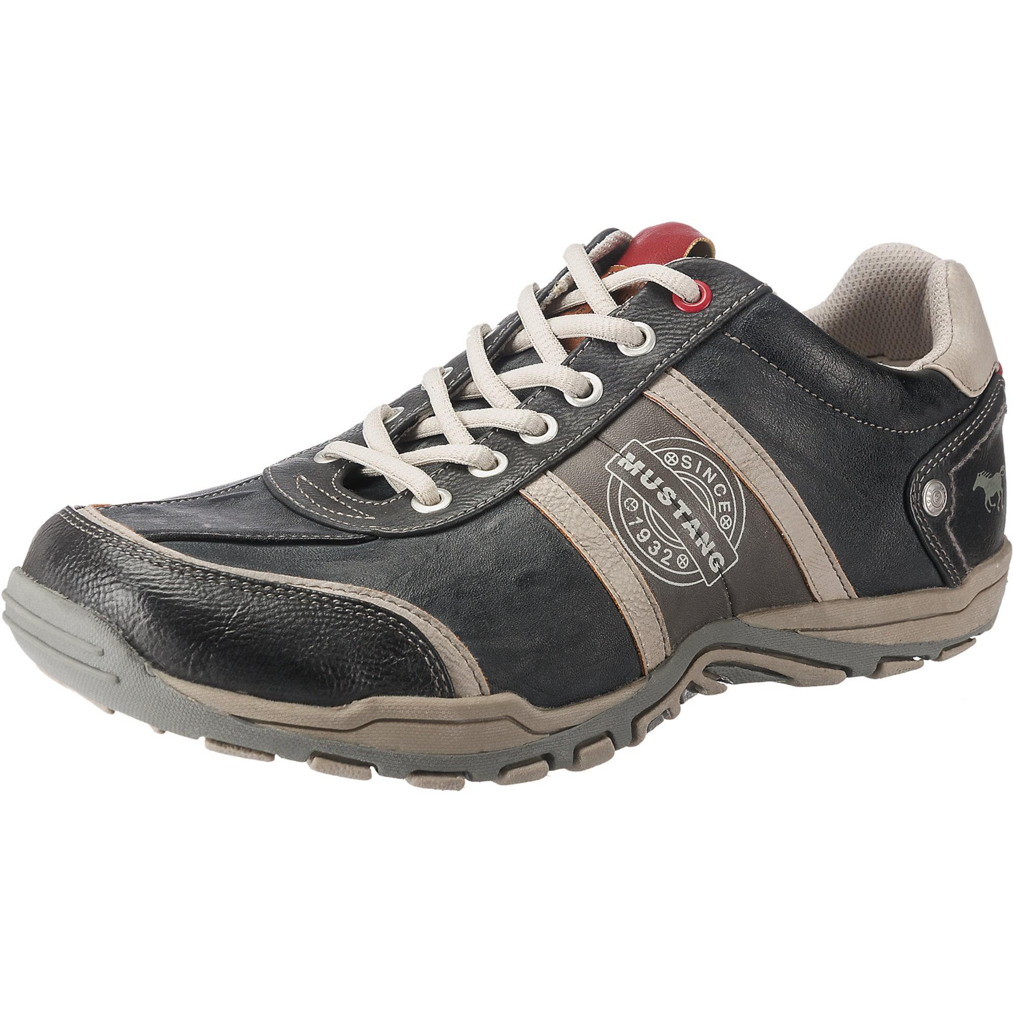 MUSTANG Sportinio stiliaus batai su raišteliais balta / pilka