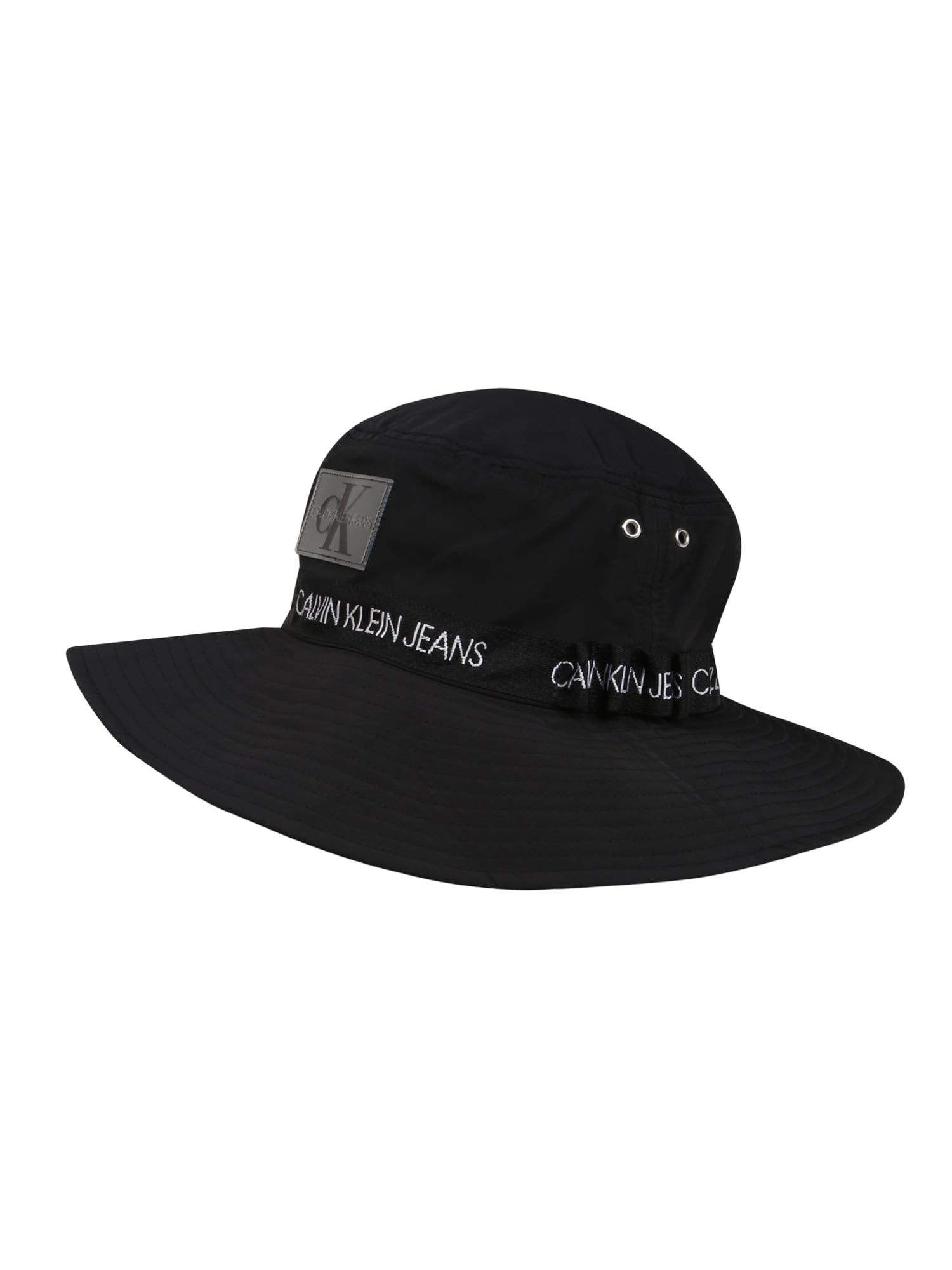 Calvin Klein Jeans Megzta kepurė 'Street Safari' juoda
