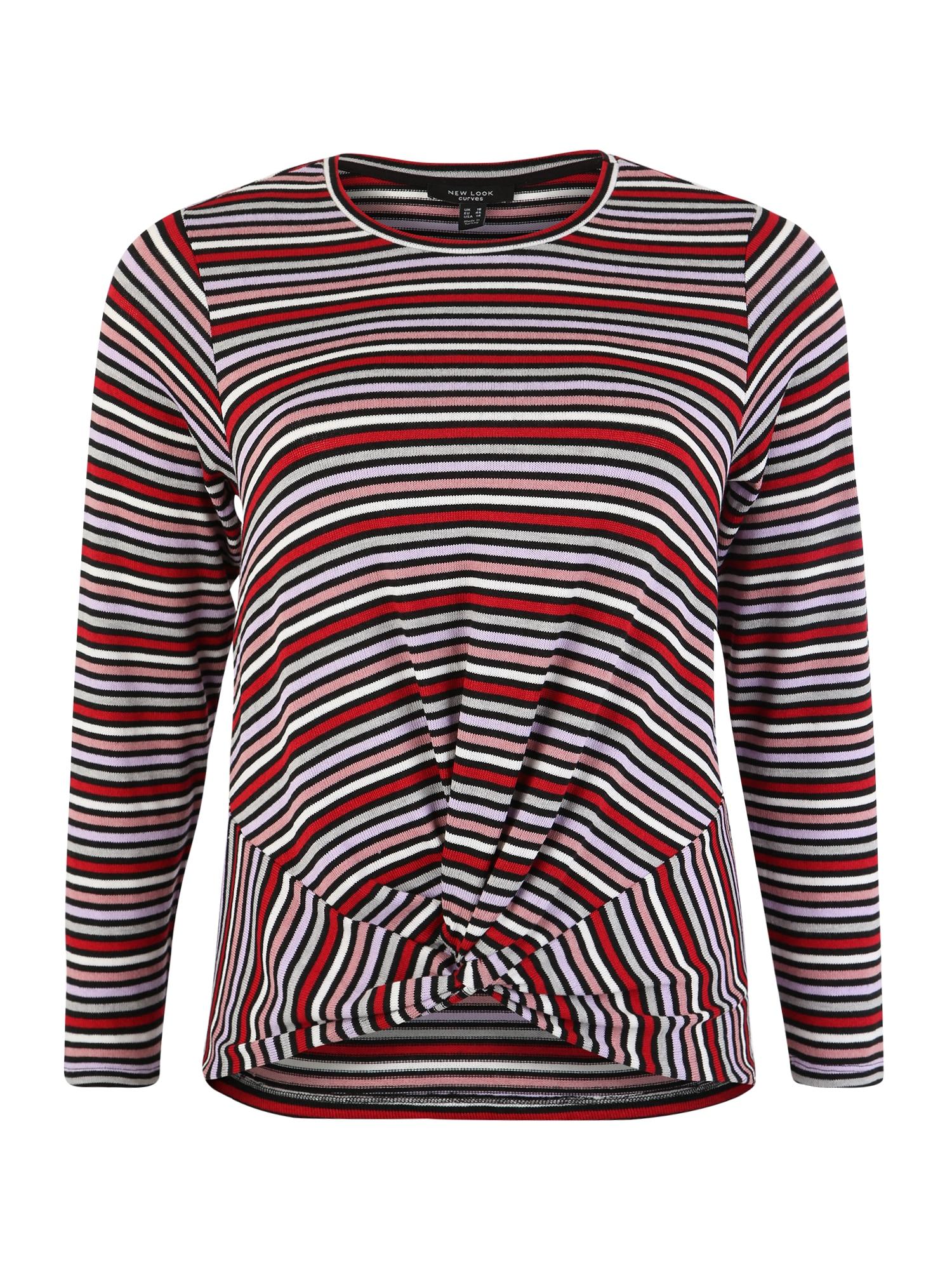 New Look Curves Marškinėliai 'Twist Front' ruda / juoda