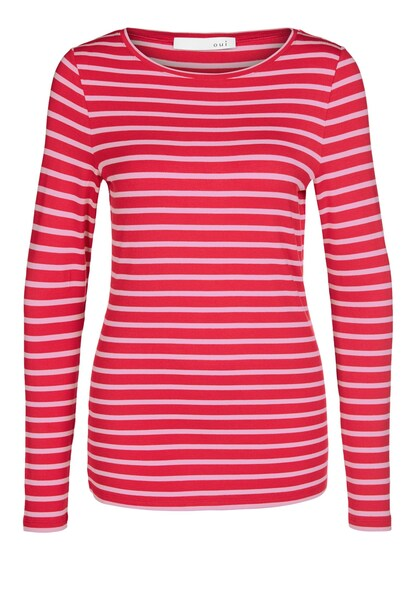 Oberteile für Frauen - OUI Gestreiftes Langarmshirt rosa rot  - Onlineshop ABOUT YOU