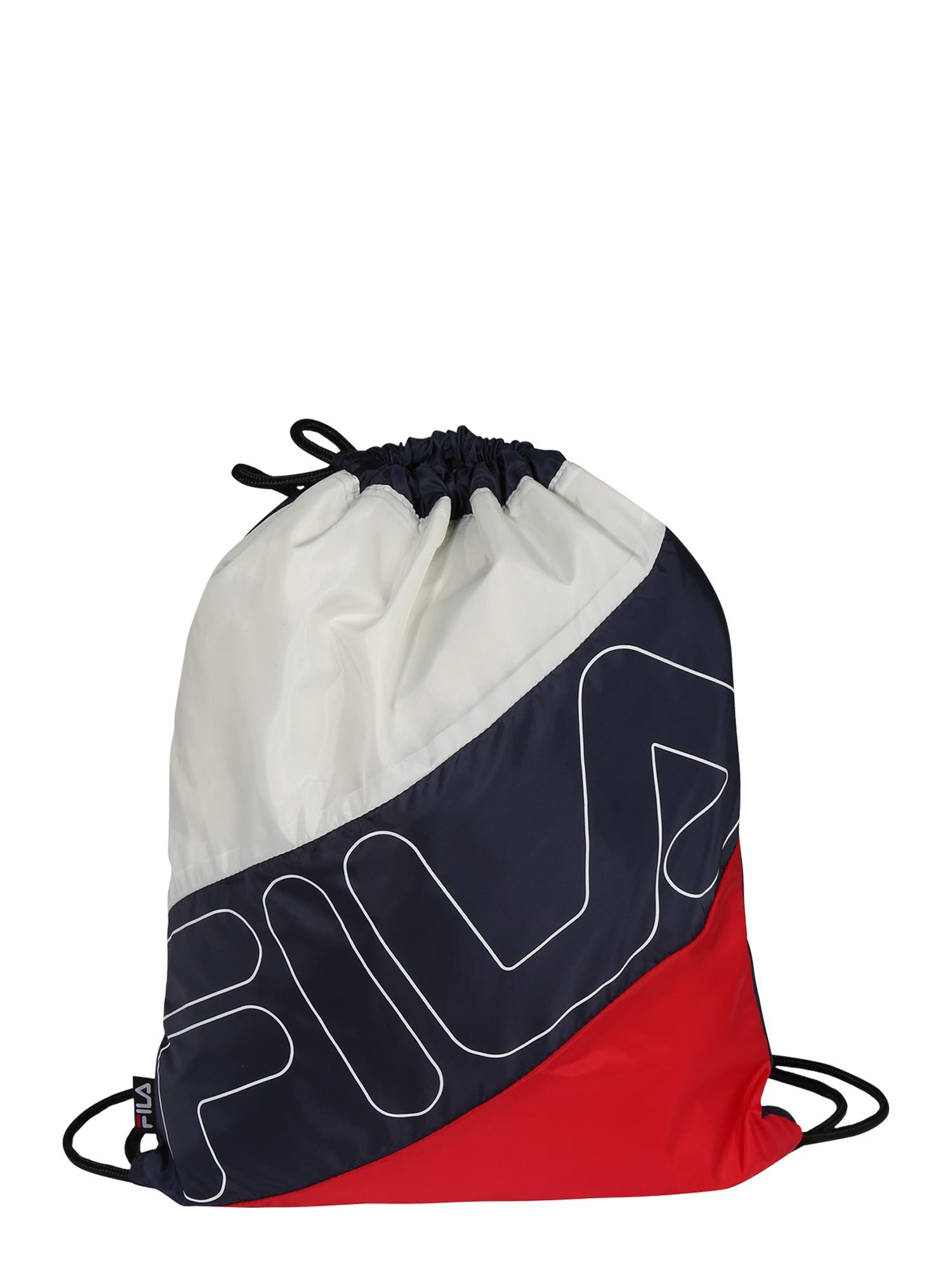 FILA Sportinė kuprinė 'ROSSO' juoda / balta / raudona