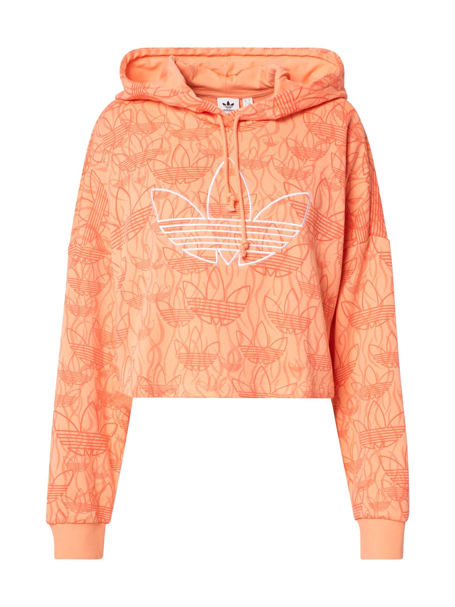 ADIDAS ORIGINALS Megztinis be užsegimo 'Hoodie Crop' abrikosų spalva