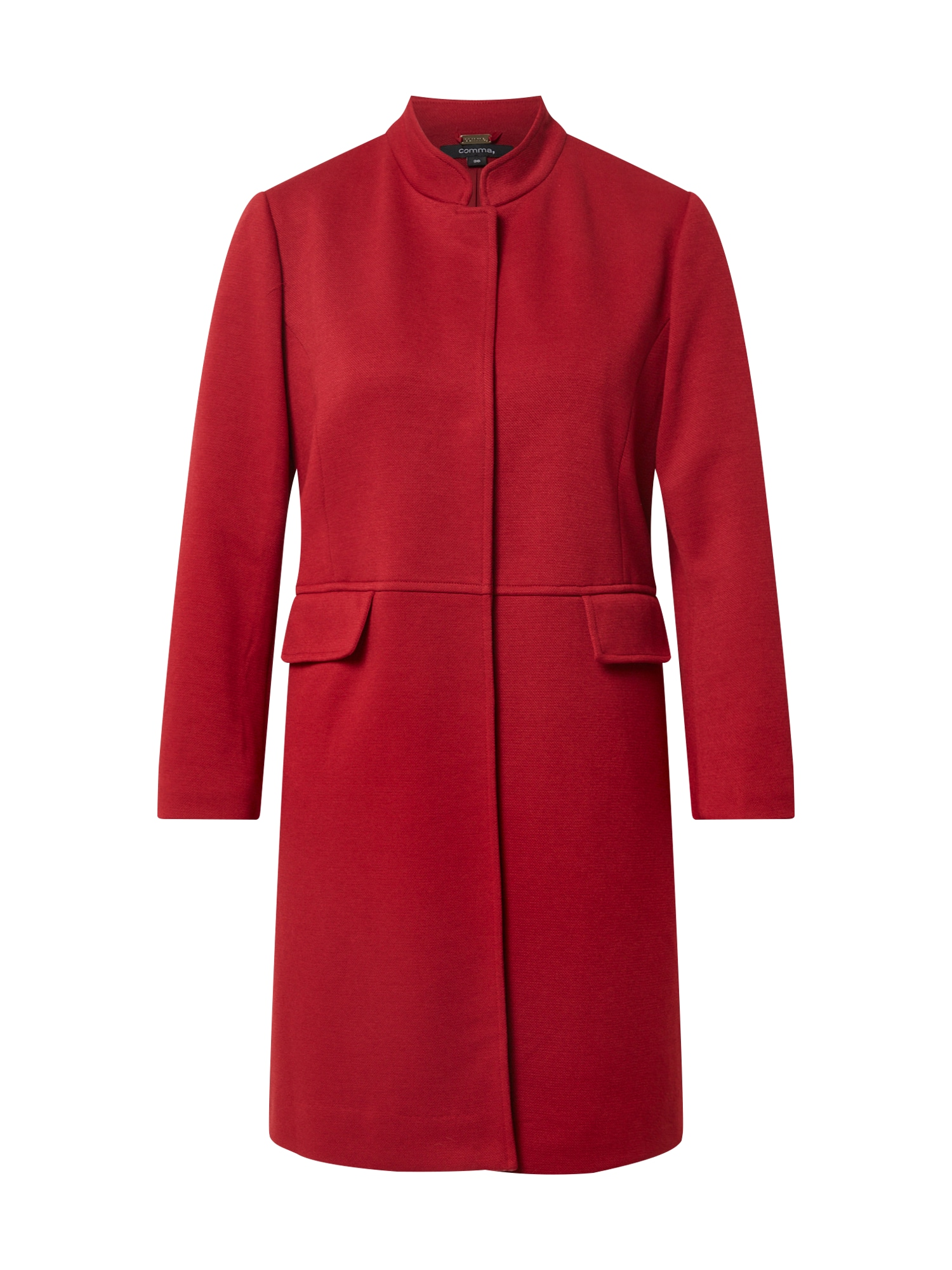 COMMA Demisezoninis paltas tamsiai raudona