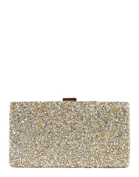 Clutches für Frauen - Clutch mit Glitter › Mascara › gold  - Onlineshop ABOUT YOU