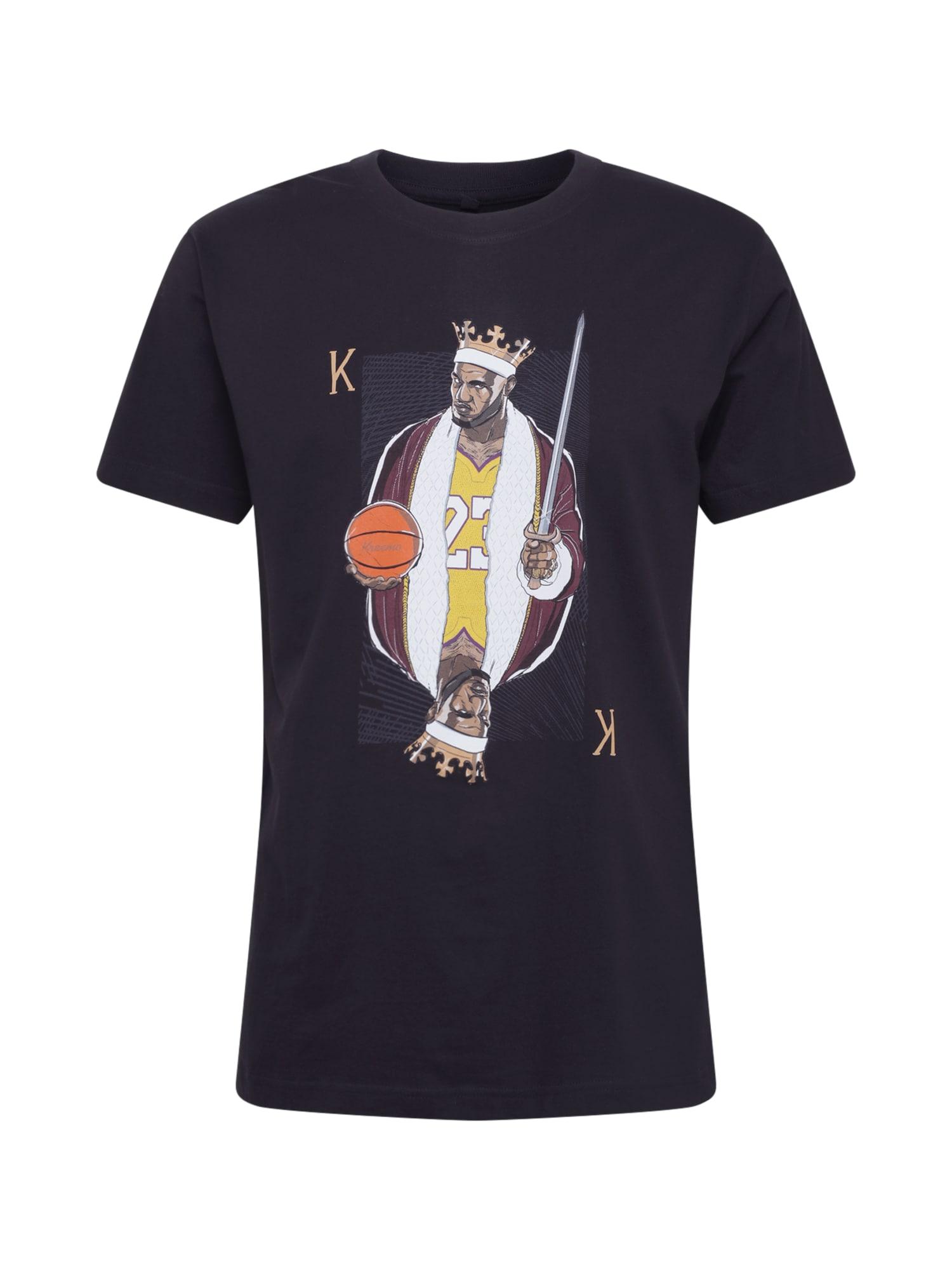 Mister Tee Tričko 'King James LA Tee'  čierna / žlté