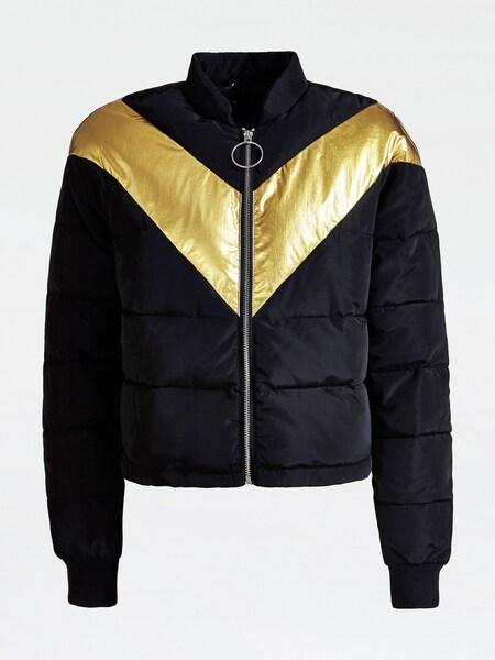 Jacken für Frauen - GUESS Wattierte Jacke gold schwarz  - Onlineshop ABOUT YOU