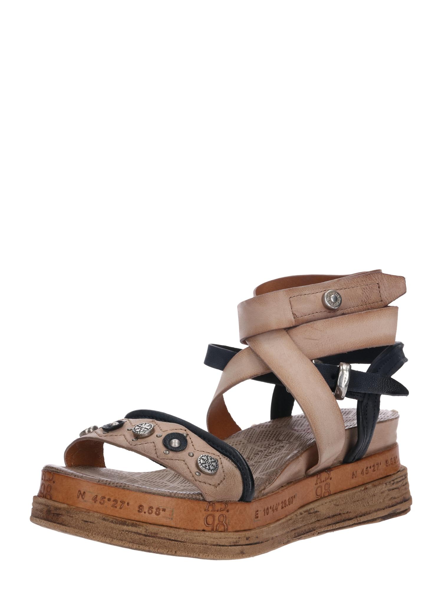 A.S.98 Basutės su dirželiais 'Sandale LAGOS' smėlio