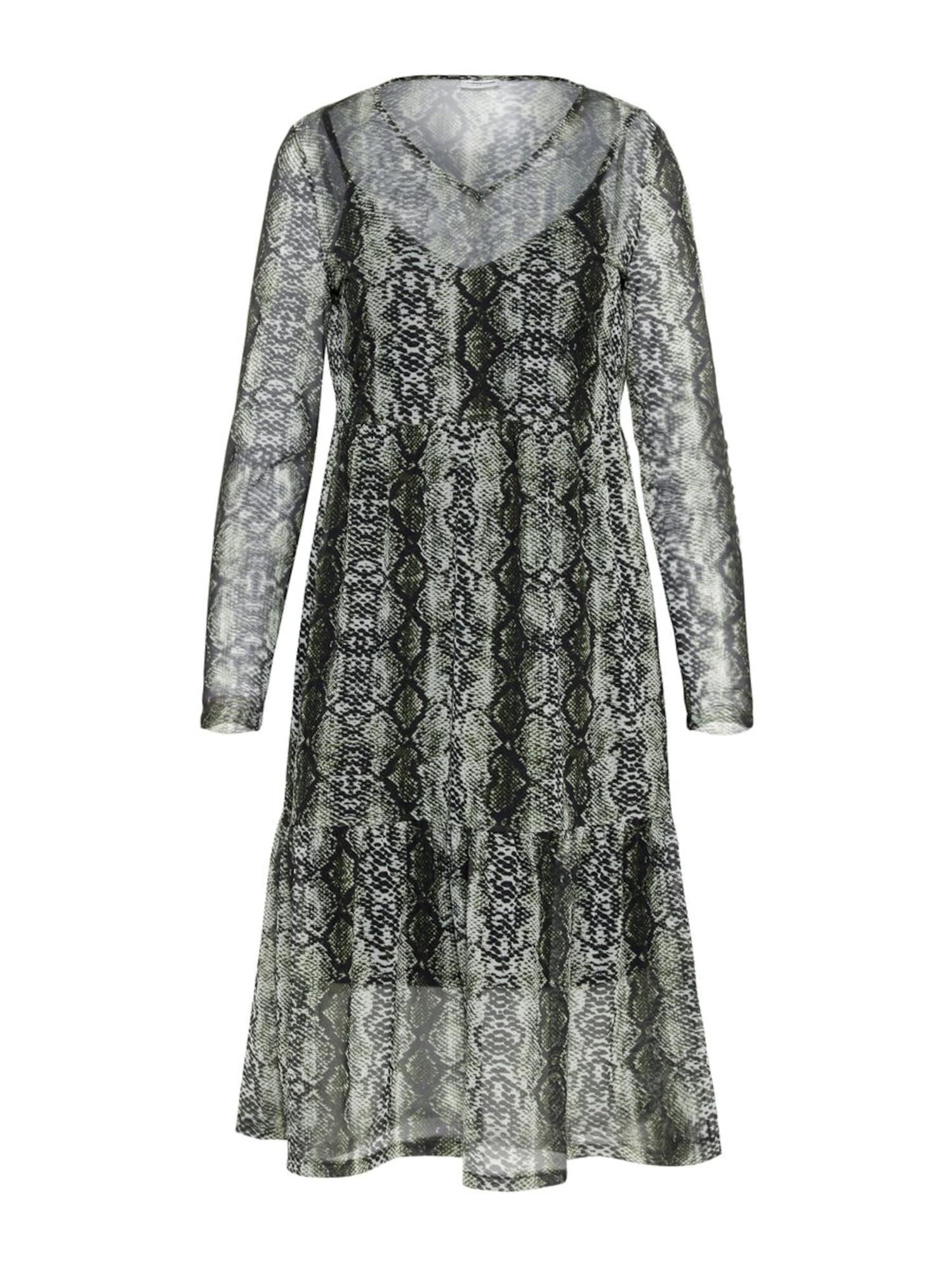 Šaty Lesly pastelově zelená černá Noisy May