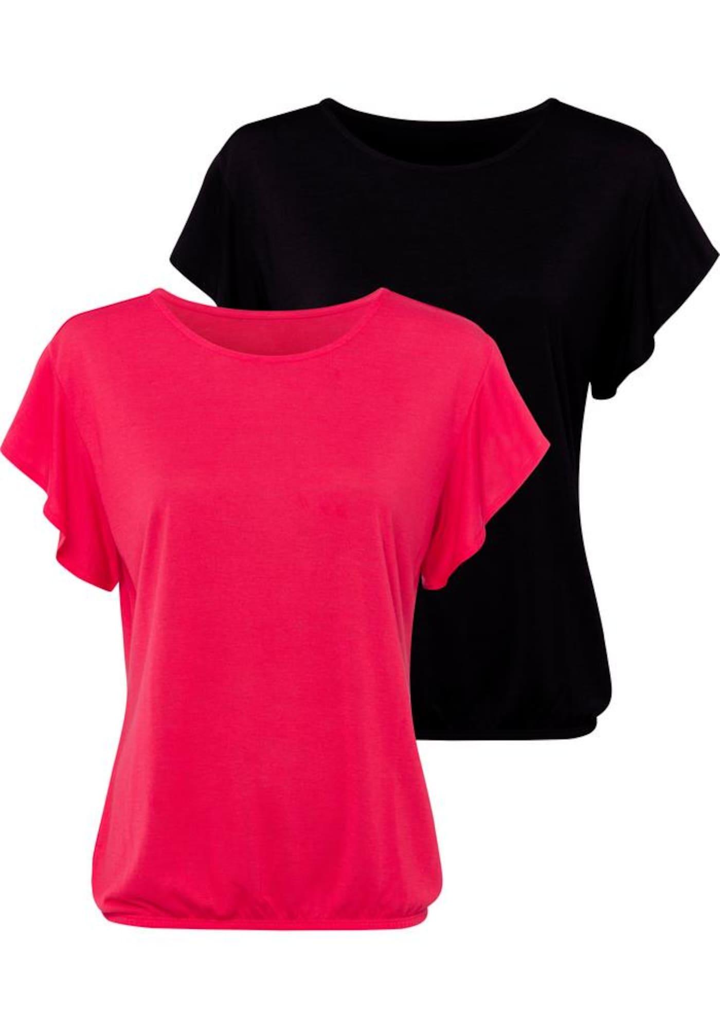 LASCANA Tričko  červené / čierna