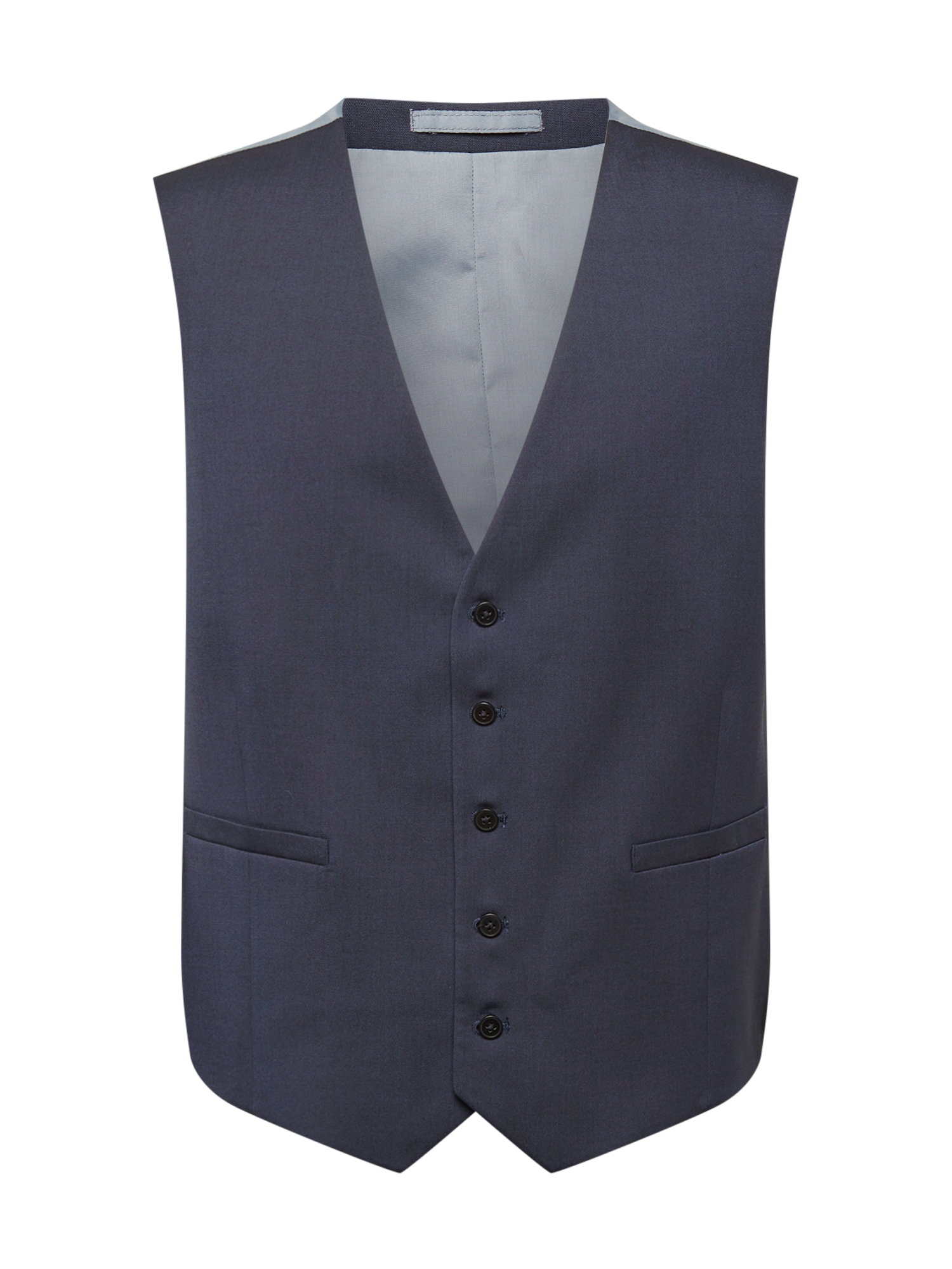 BURTON MENSWEAR LONDON Kostiuminė liemenė 'Essential' melsvai pilka / tamsiai mėlyna