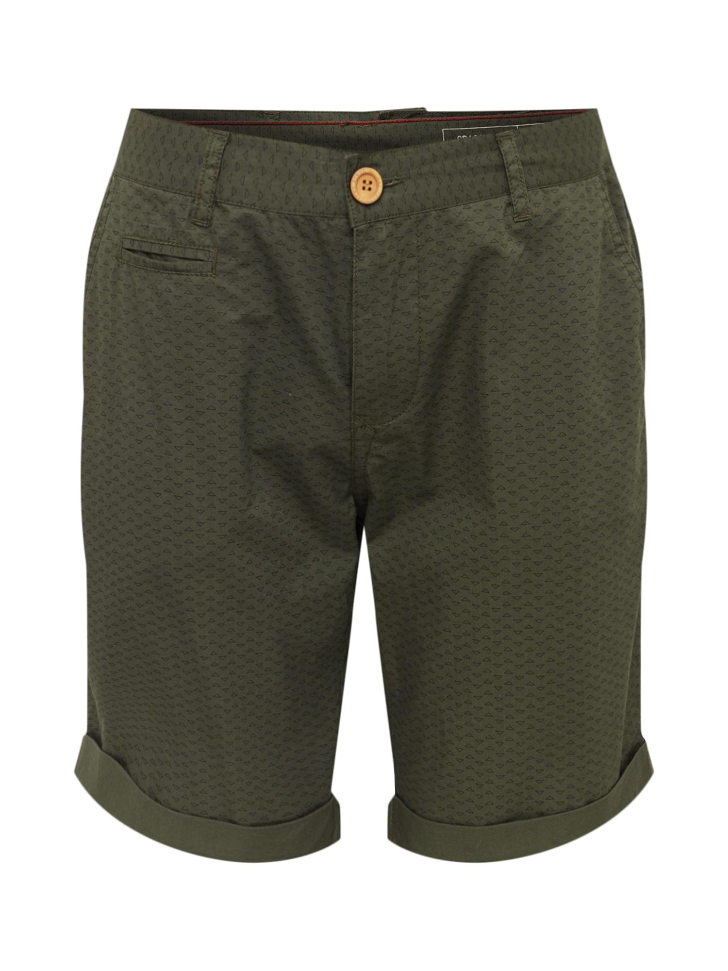 Chino kalhoty tmavě zelená BLEND