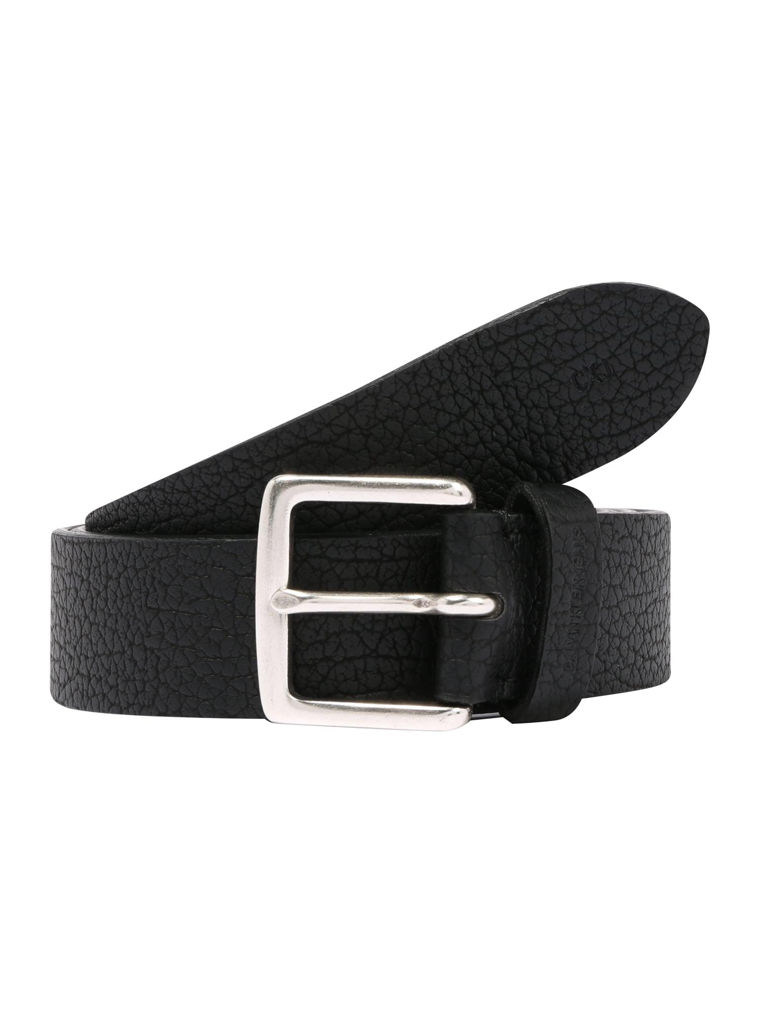 Calvin Klein Jeans Opasky 'CLASSIC TUMBLED'  čierna
