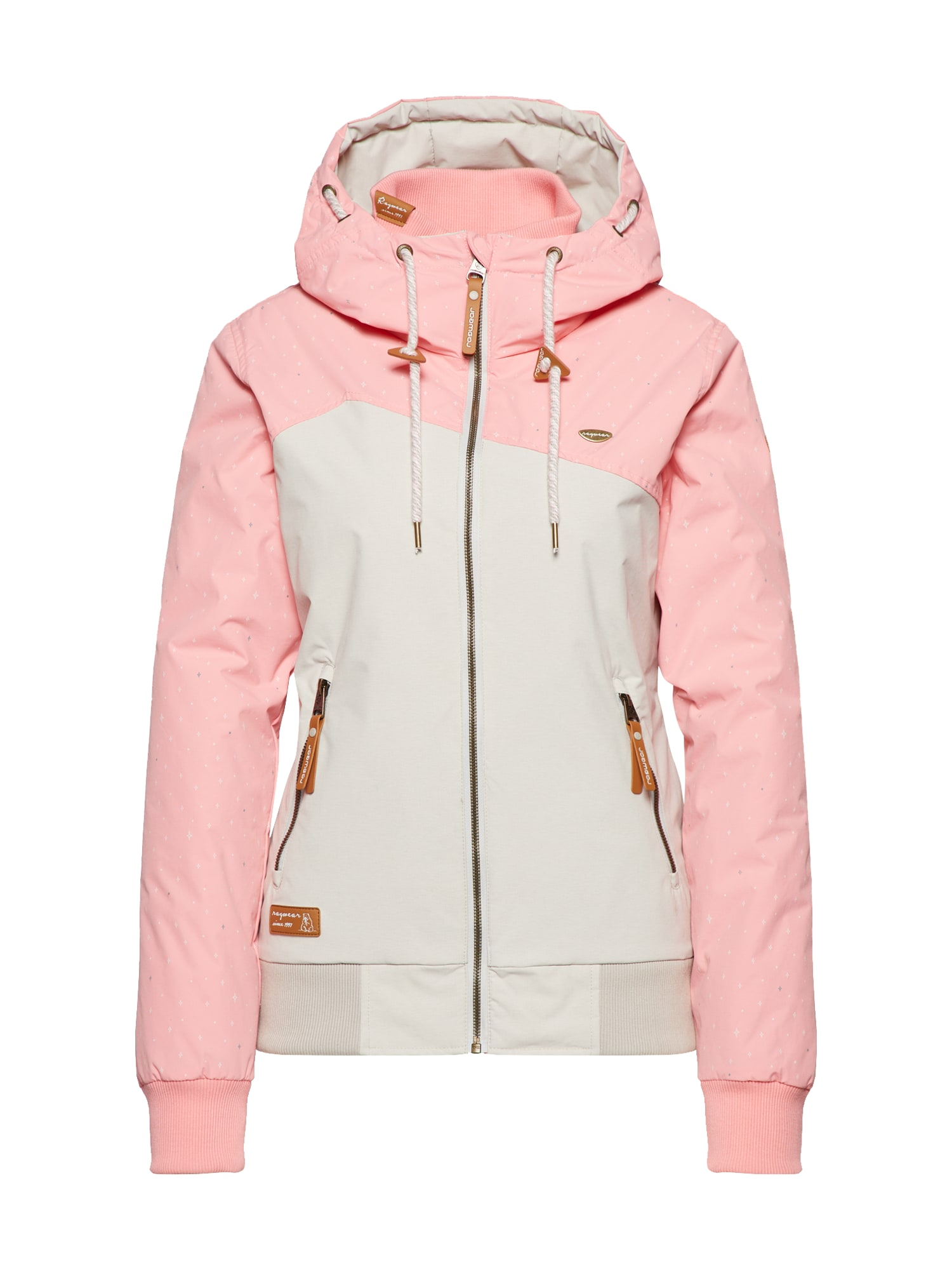 Ragwear Prechodná bunda 'NUGGIE B'  krémová / ružová