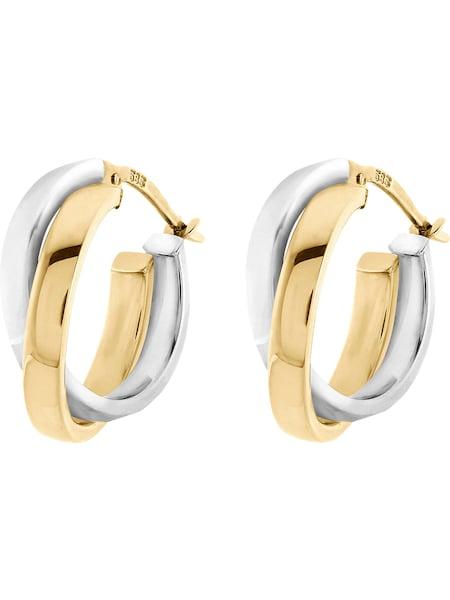 Ohrringe für Frauen - CHRIST Creole '84152234' gold silber  - Onlineshop ABOUT YOU