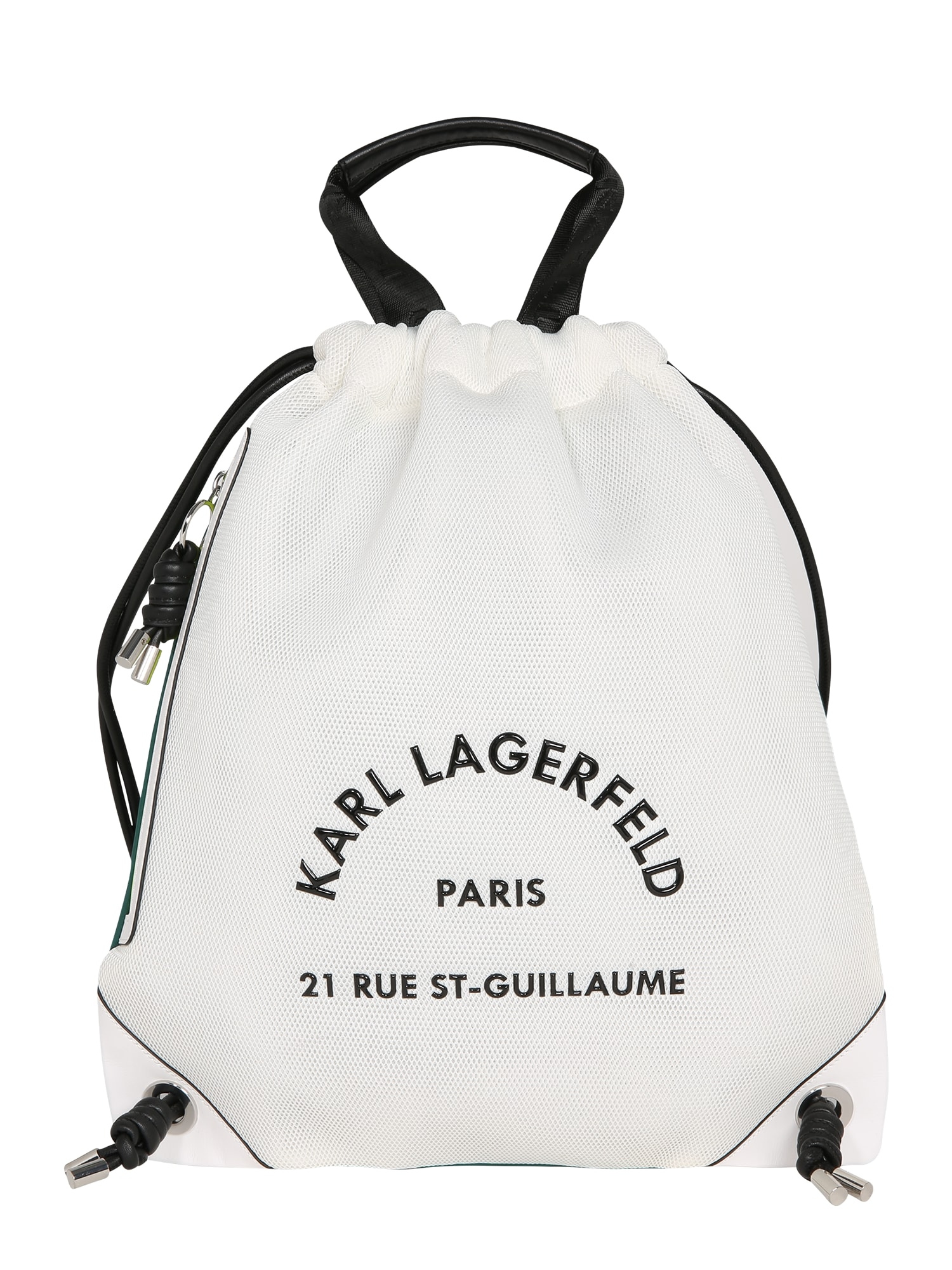 Karl Lagerfeld Batoh 'Rue St Guillaume'  smaragdová / bílá / černá