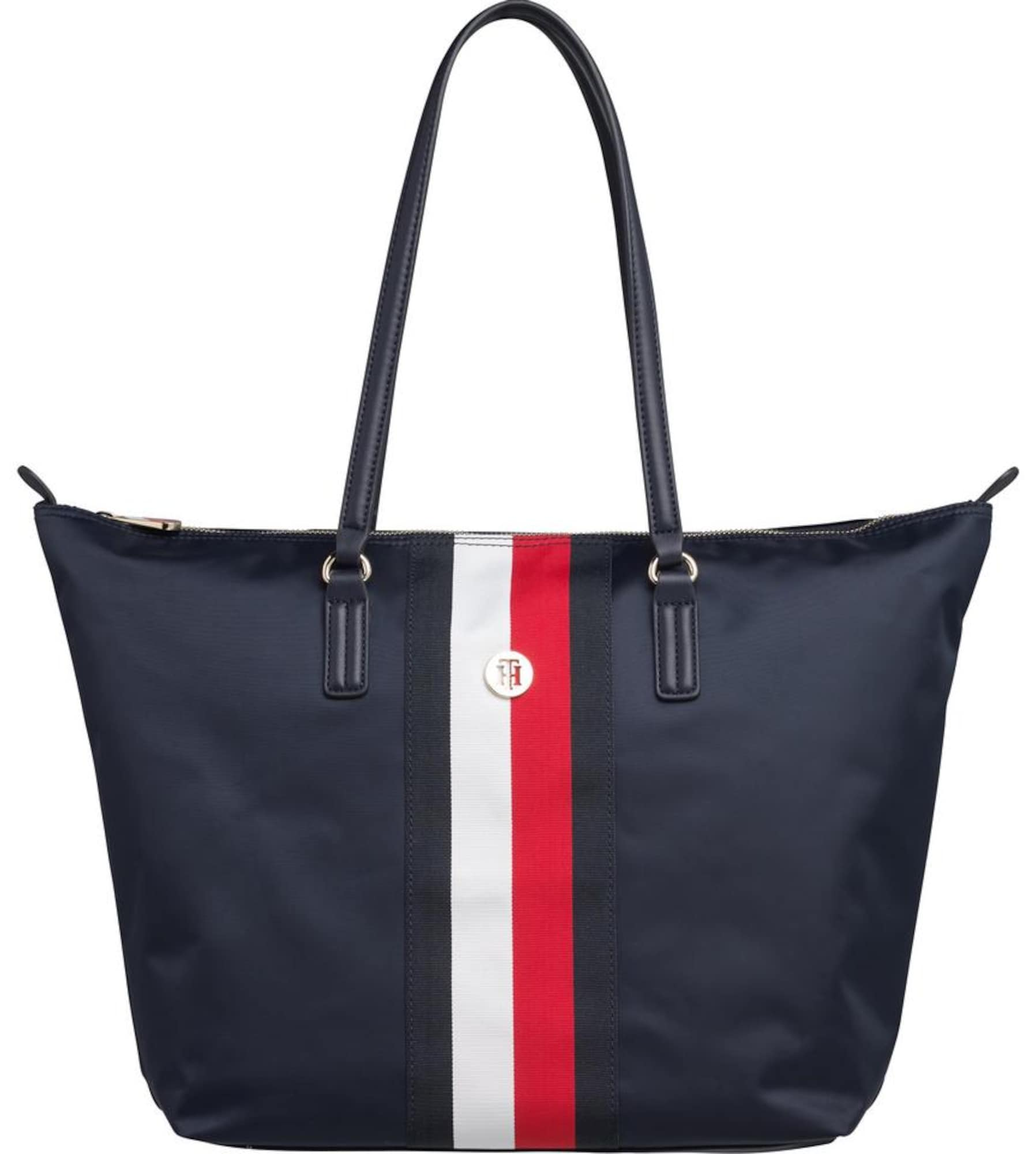 TOMMY HILFIGER Pirkinių krepšys tamsiai mėlyna / raudona / balta