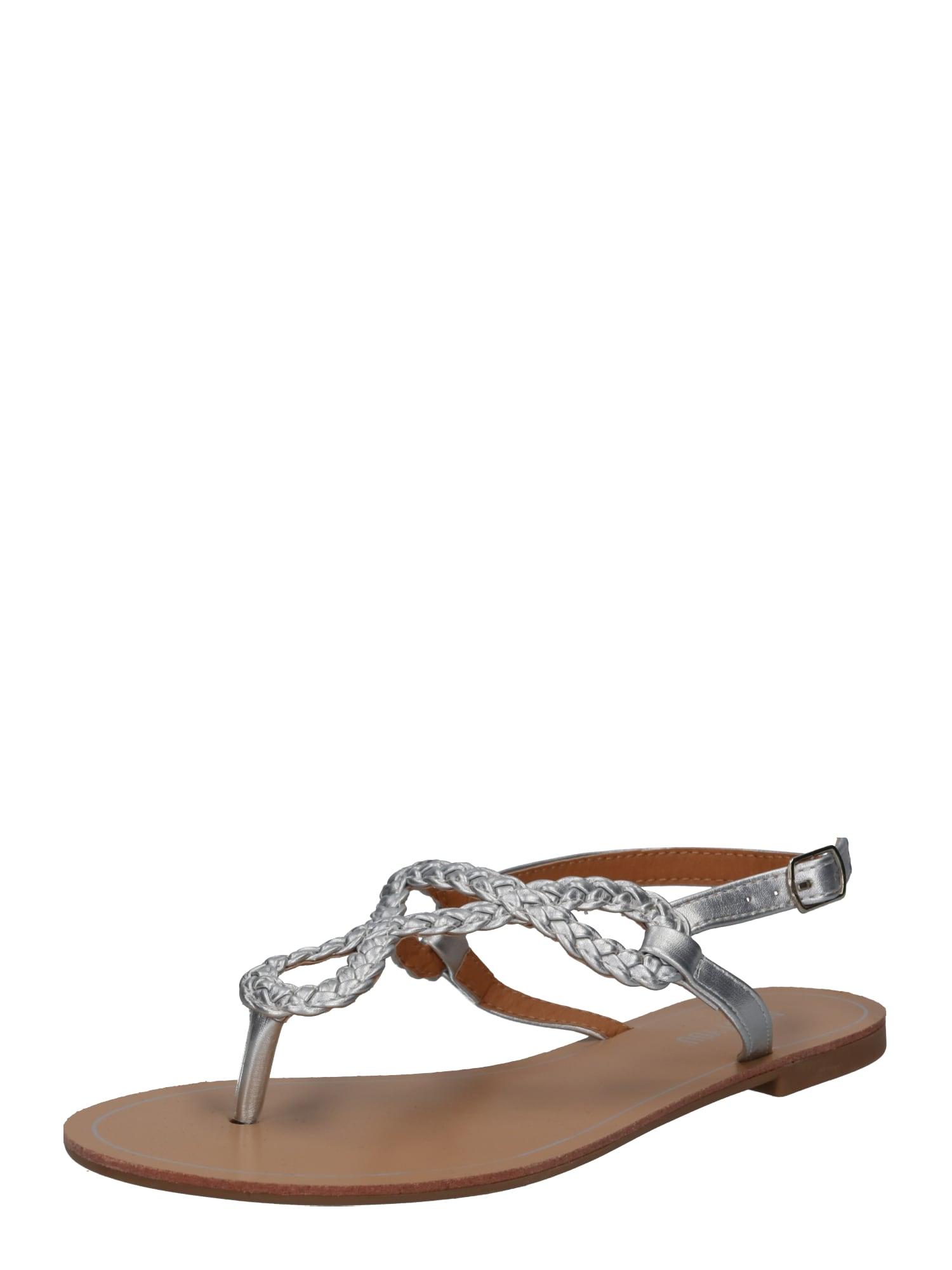 Sandály Sabrina stříbrná ABOUT YOU