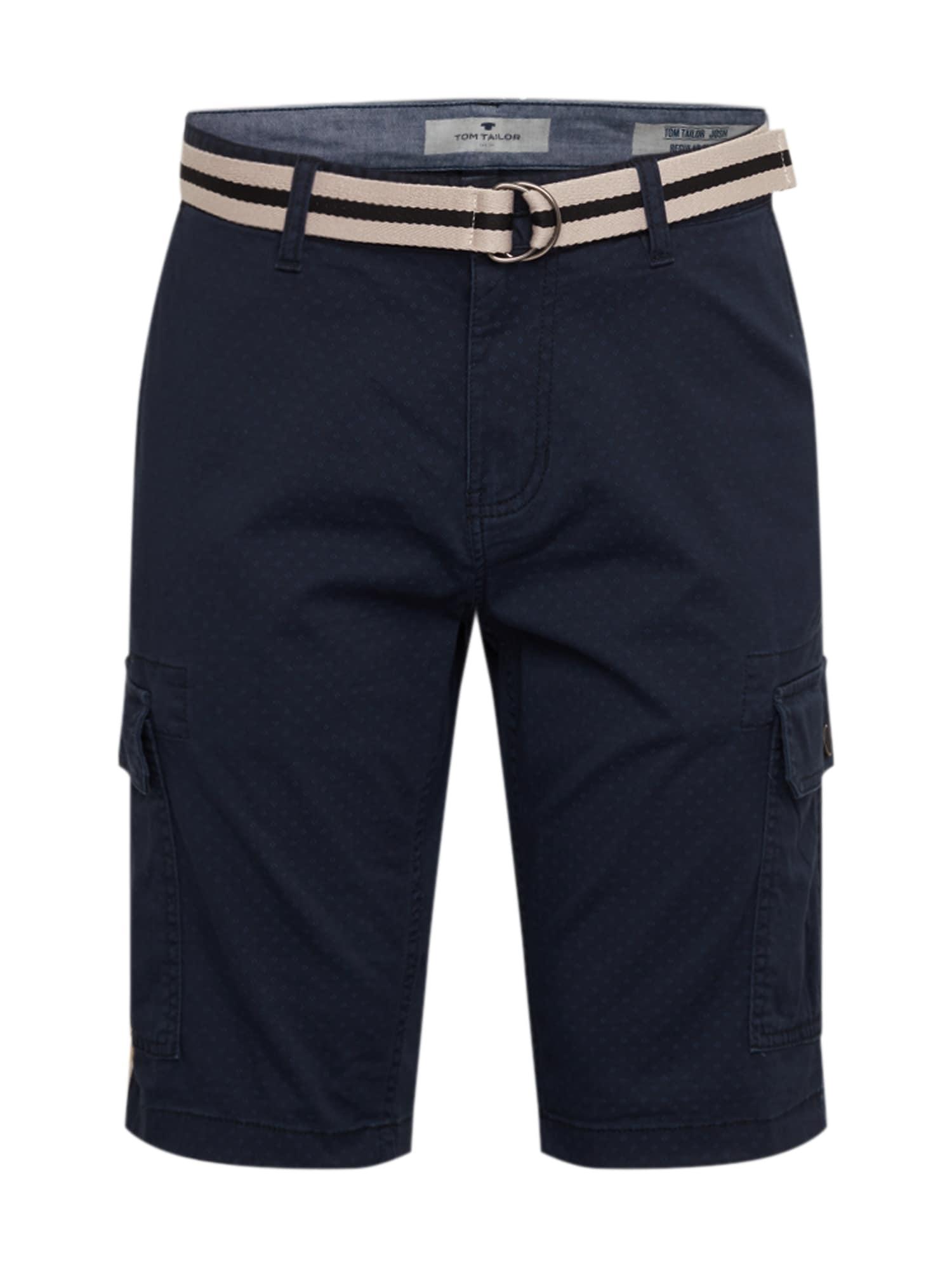 TOM TAILOR Laisvo stiliaus kelnės tamsiai mėlyna