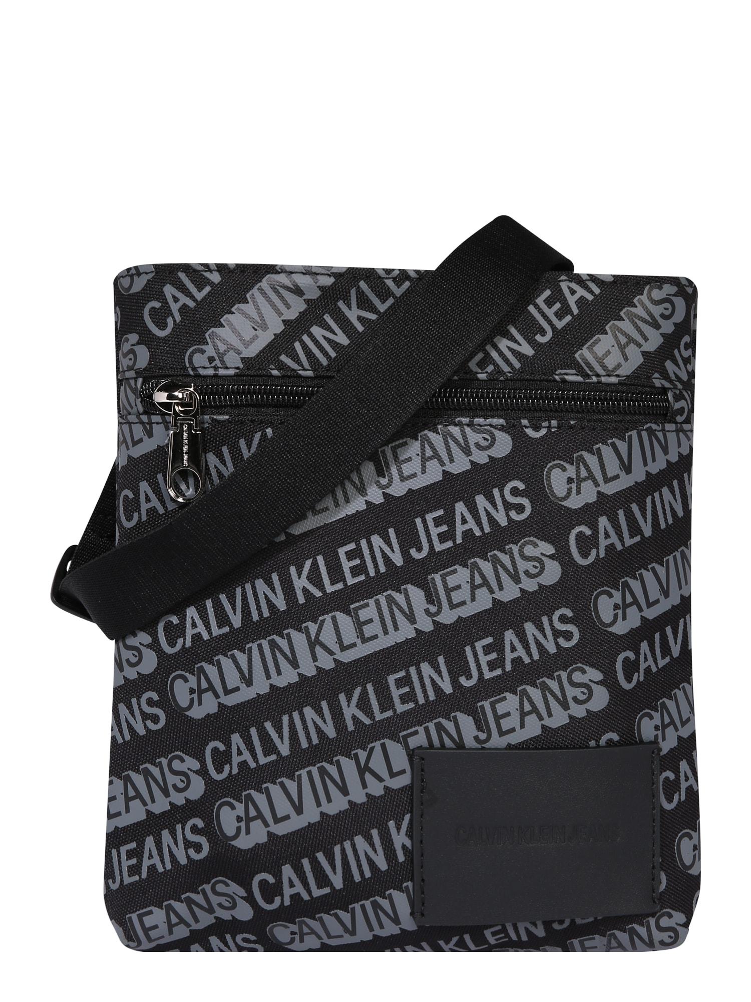 Calvin Klein Jeans Taška cez rameno 'MICRO FLATPACK W/PCKT'  čierna