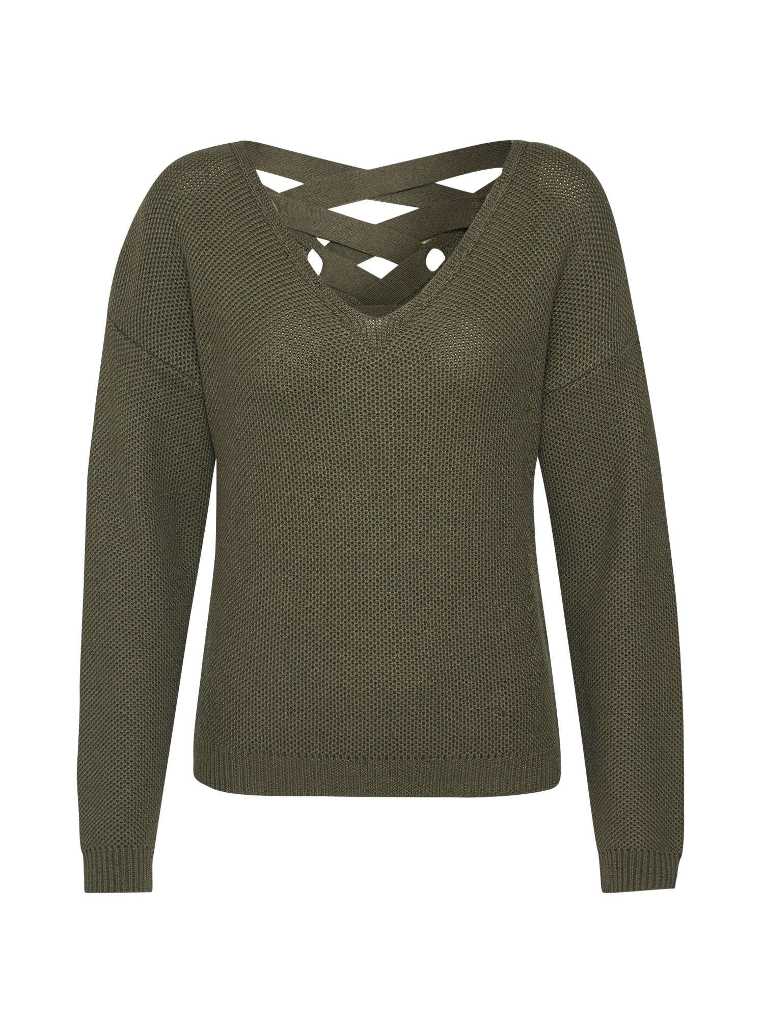 ABOUT YOU Megztinis 'Caryl' tamsiai žalia