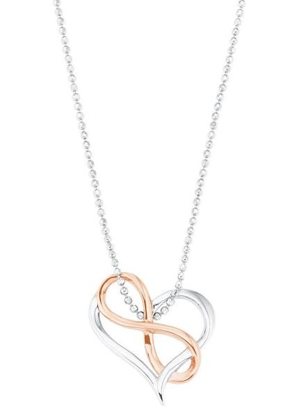 Ketten für Frauen - Kette 'Herz mit Infinity Unendlichkeitsschleife' › AMOR › rosegold silber  - Onlineshop ABOUT YOU