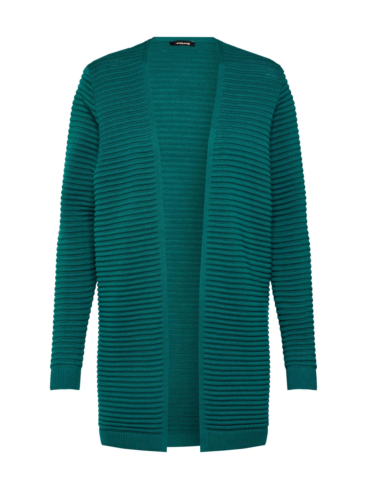 MORE & MORE Kardiganas smaragdinė spalva