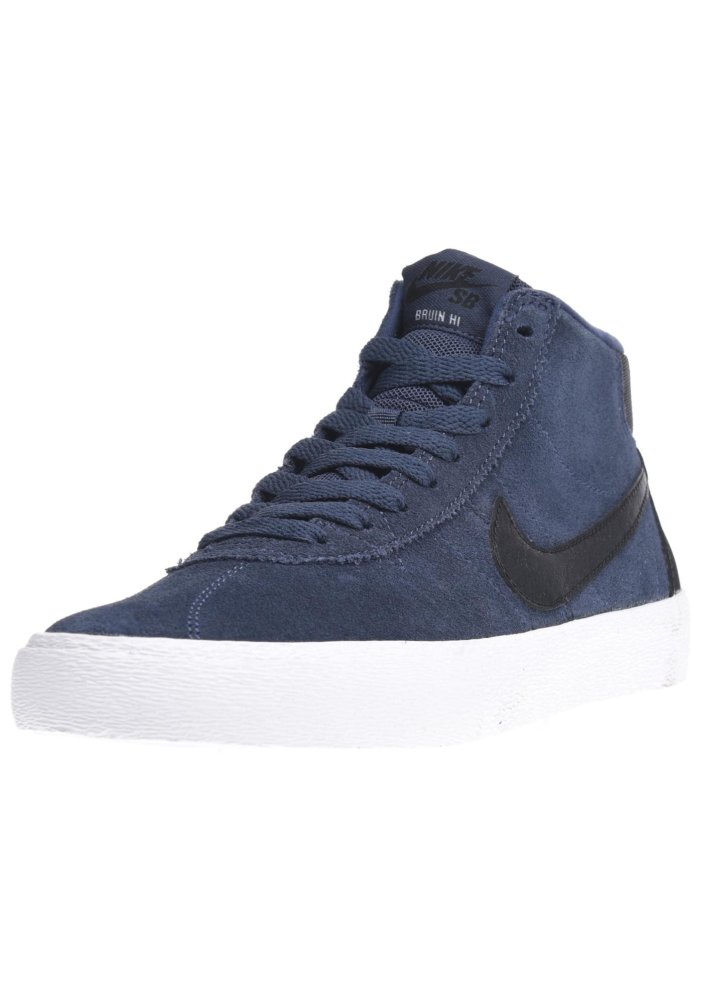 Nike SB, Damen Sneakers hoog Bruin Hi, nachtblauw / zwart