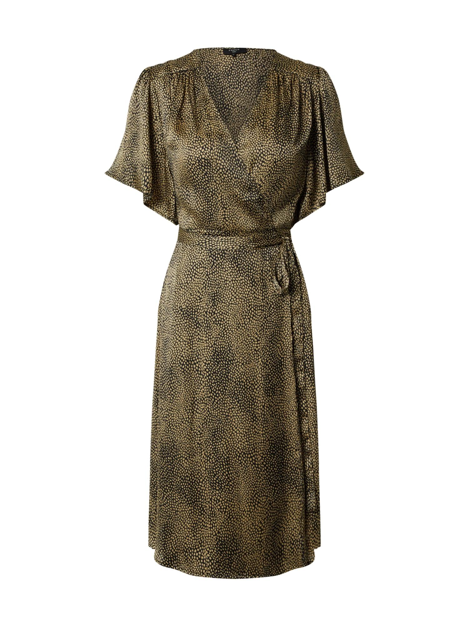 FRNCH PARIS Suknelė juoda / alyvuogių spalva