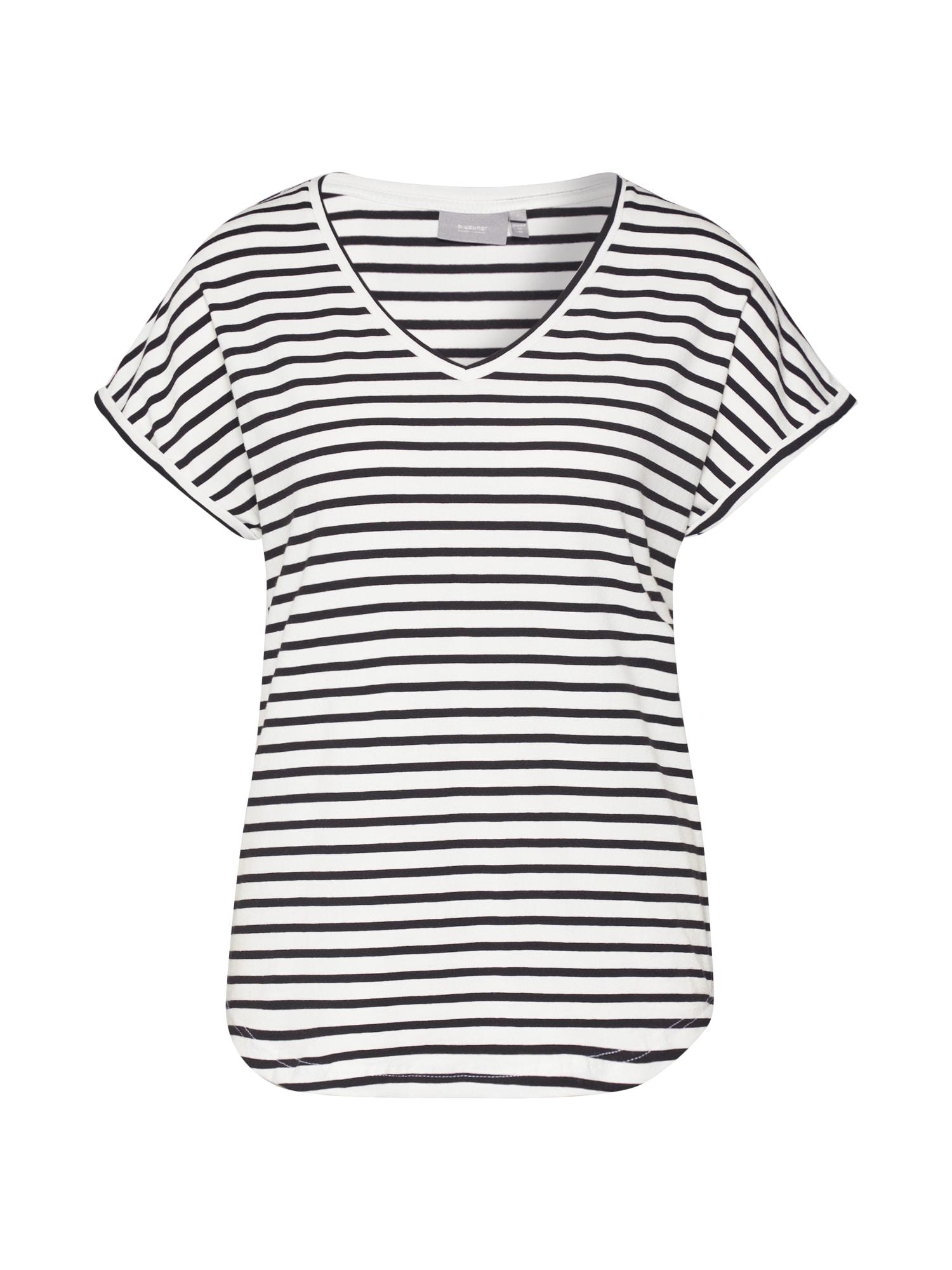 b.young Marškinėliai 'Bypamila' balta / juoda