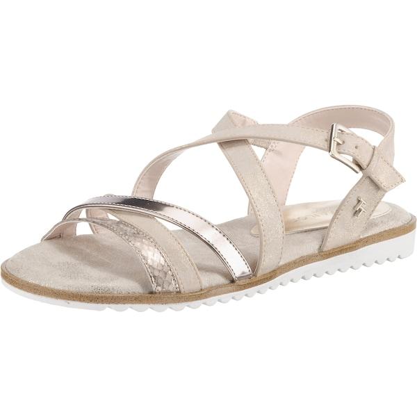 Sandalen für Frauen - TOM TAILOR Riemchensandalen rosegold weiß  - Onlineshop ABOUT YOU