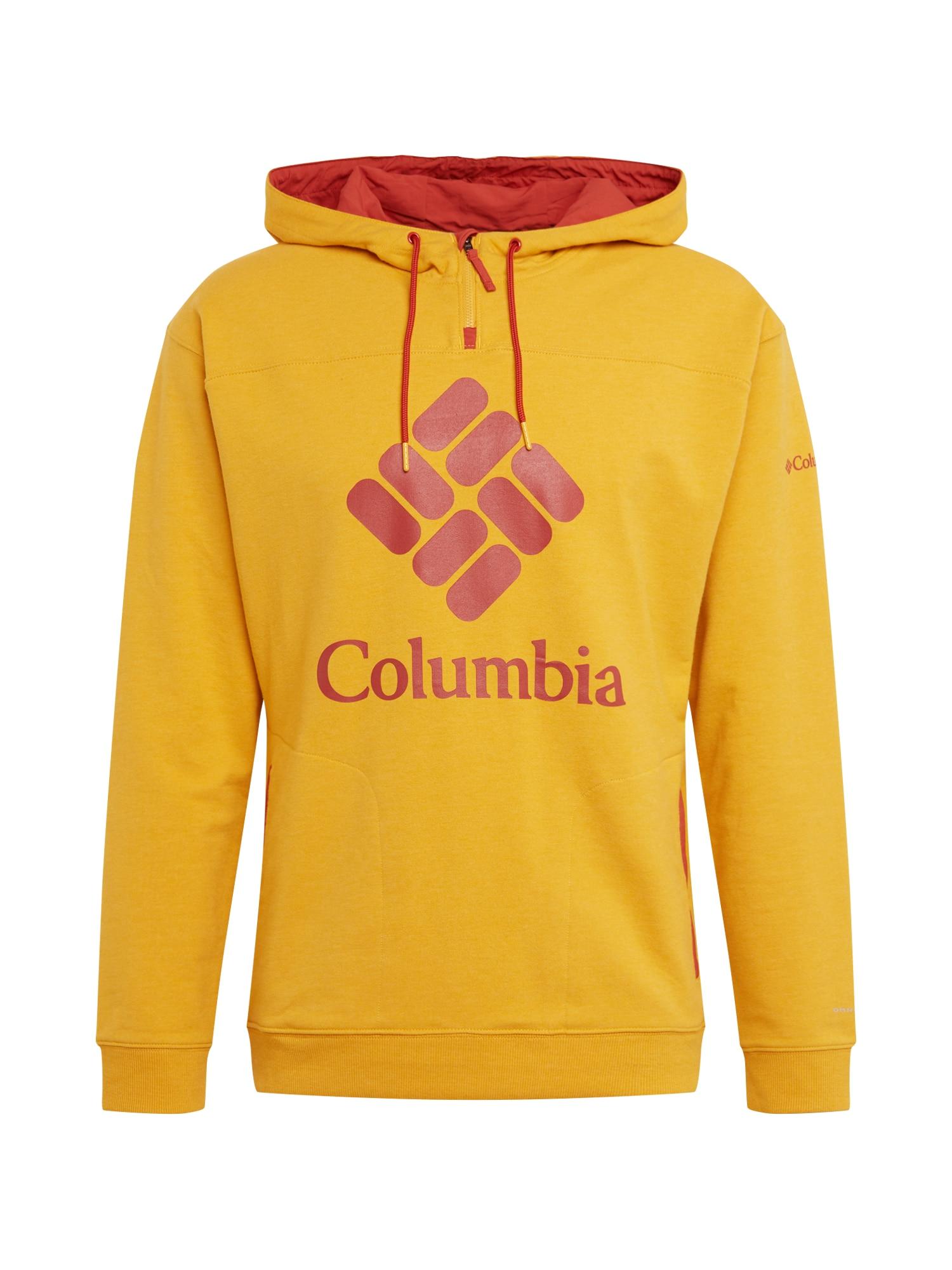 COLUMBIA Megztinis be užsegimo 'Col Lodge Fr Terry Hoodi' raudona / geltona