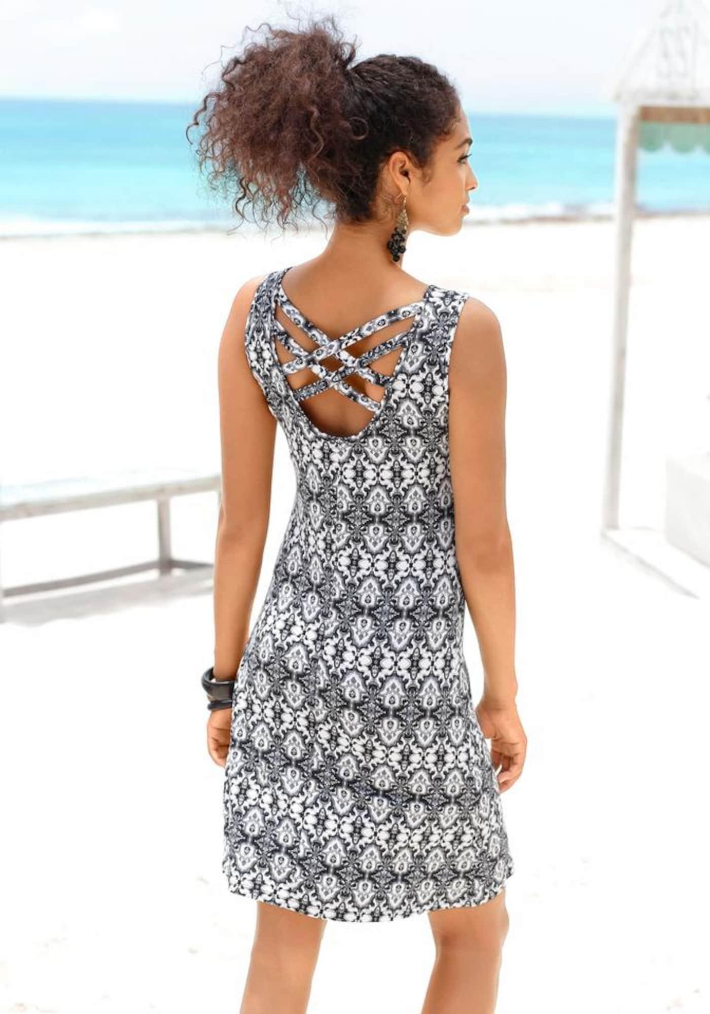 BUFFALO Paplūdimio suknelė antracito / natūrali balta