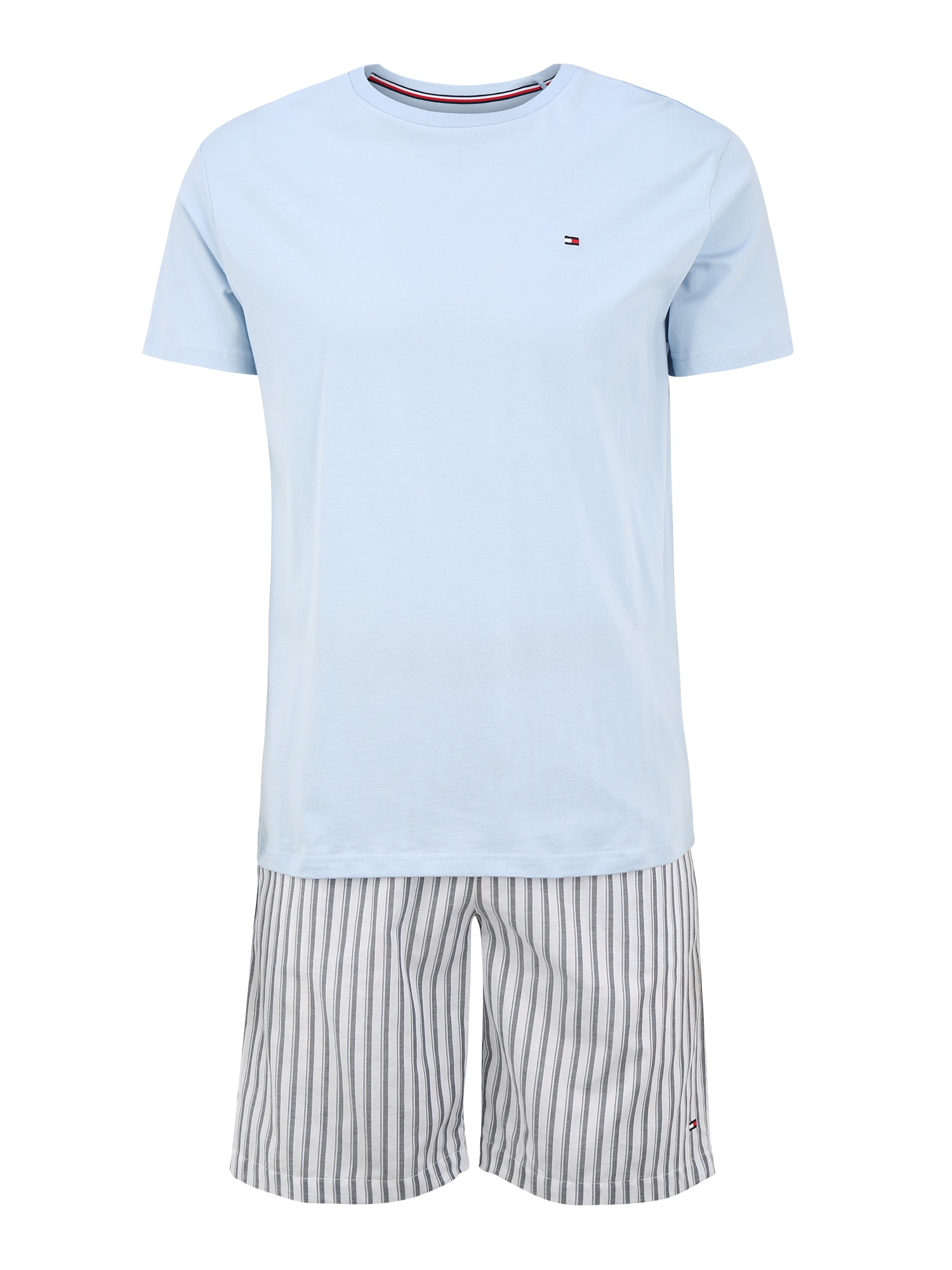 Tommy Hilfiger Underwear Trumpa pižama šviesiai pilka / mėlyna
