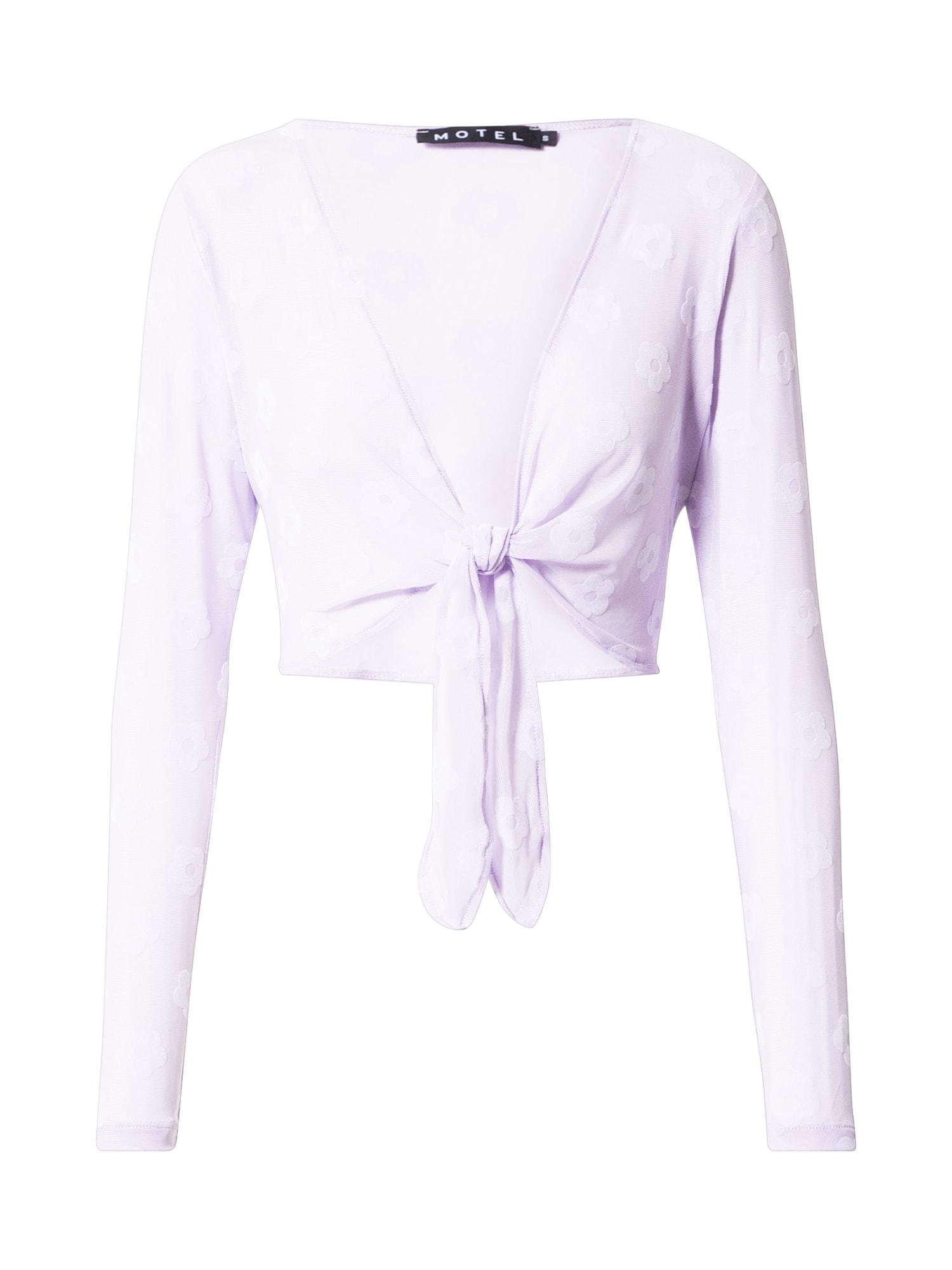 Motel Marškinėliai levandų spalva / balta