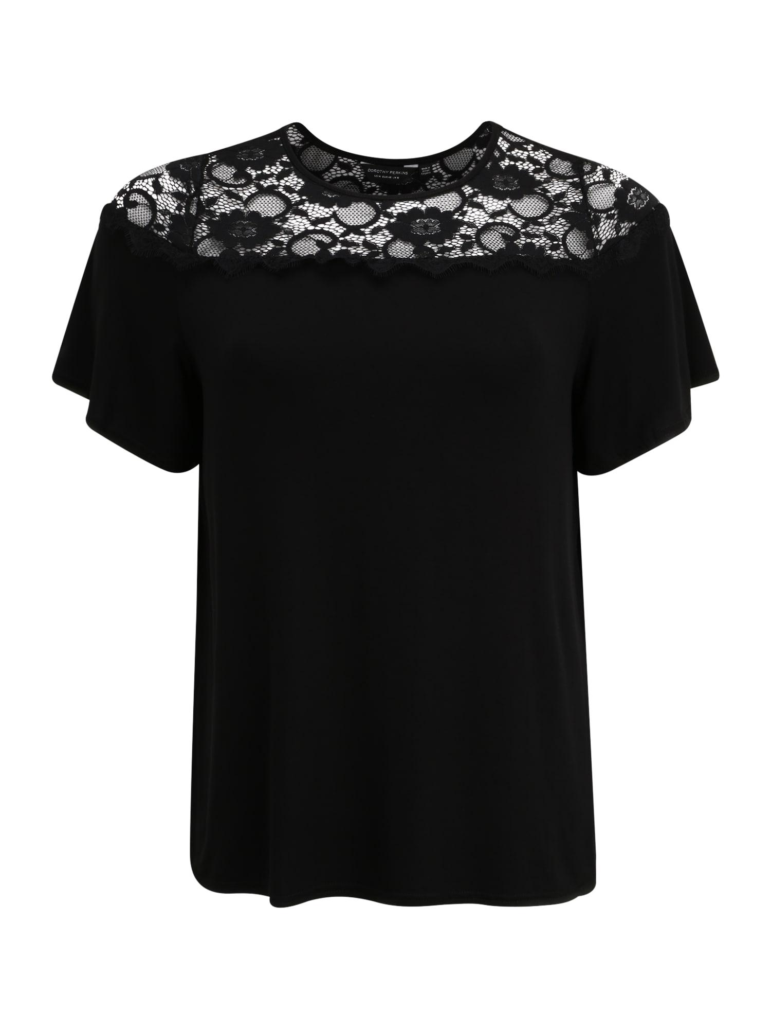 Dorothy Perkins Curve Tričko 'Victorianna'  čierna