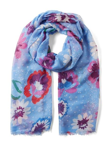 Schals für Frauen - TOM TAILOR Schal hellblau dunkellila pink rot weiß  - Onlineshop ABOUT YOU