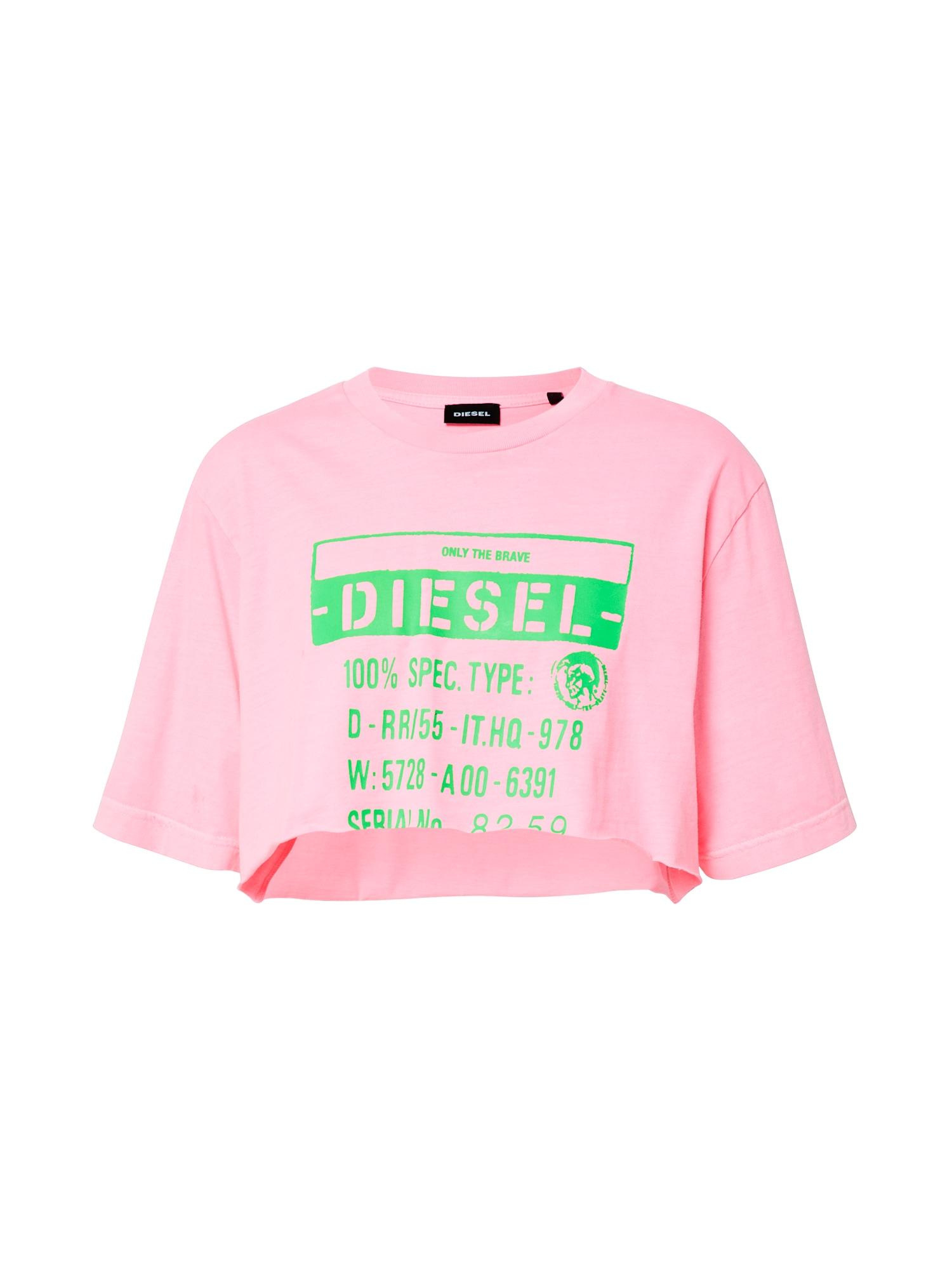DIESEL Marškinėliai 'T-Croppy' rožinė